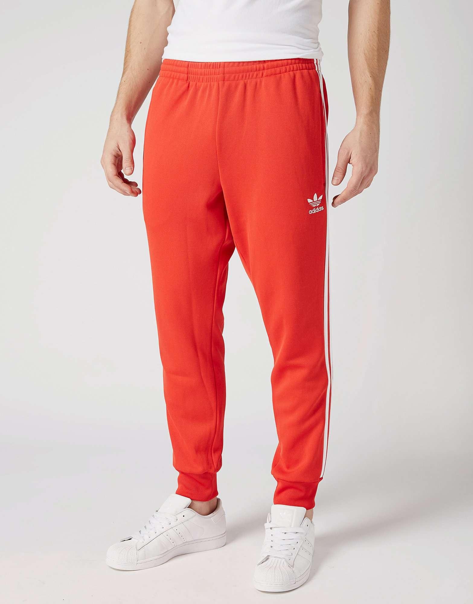 d36bd013f1ad Red Adidas Superstar Cuffed Track Pants