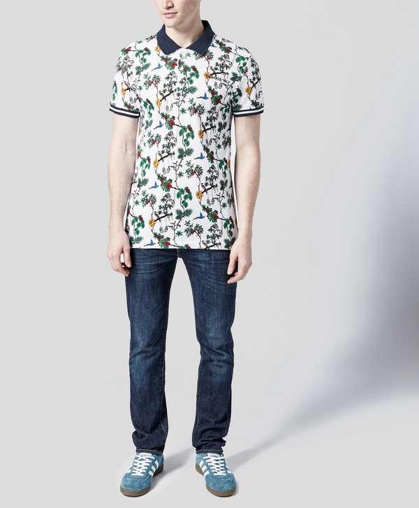 adidas Originals Island Print Polo Shirt
