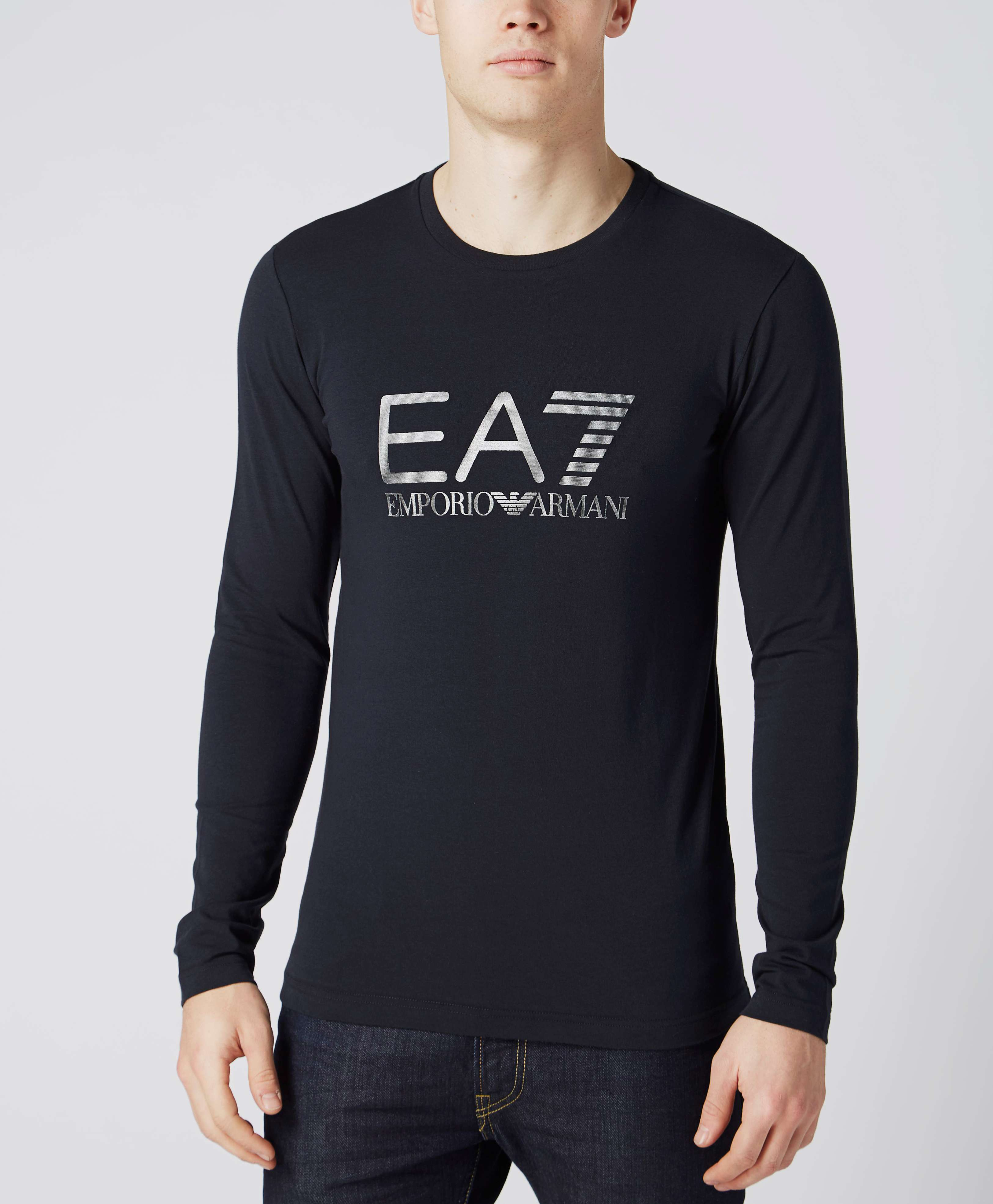 emporio armani long sleeve t shirt. Black Bedroom Furniture Sets. Home Design Ideas