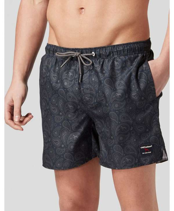 One True Saxon Palmer Paisley Swim Shorts - Exclusive - Navy