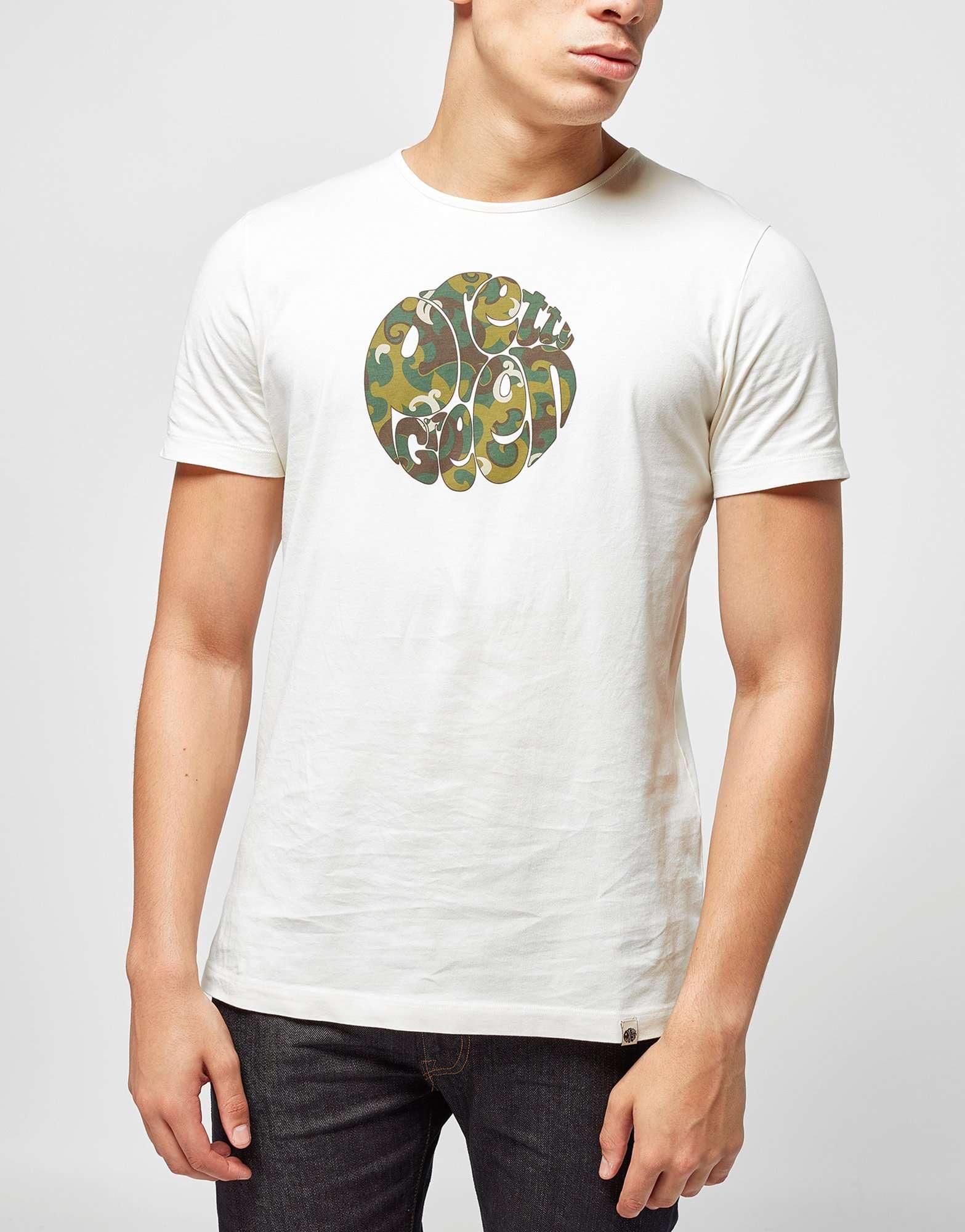 Pretty Green Riley Camo Logo T Shirt Scotts Menswear