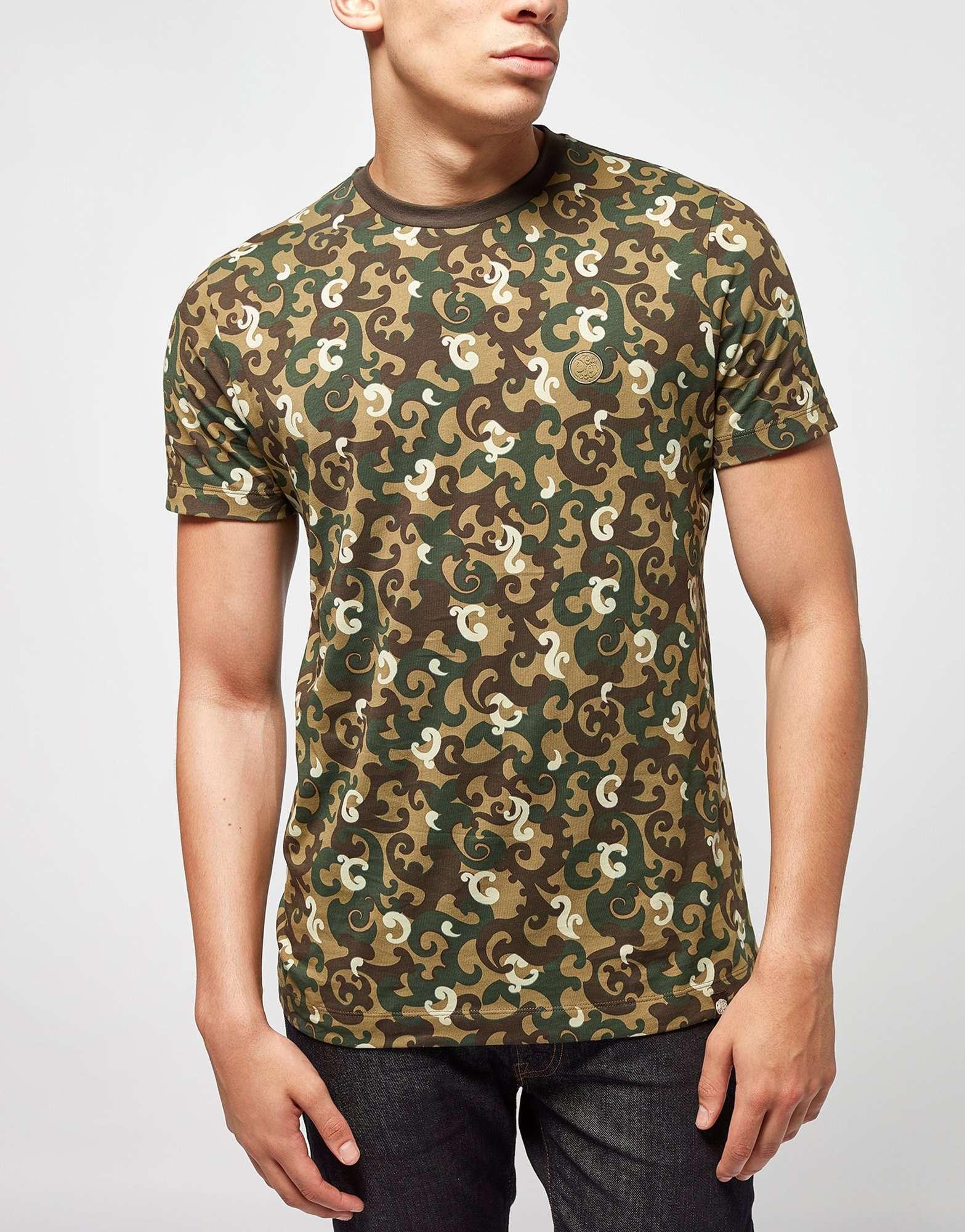 Pretty Green Riley Aop Camo T Shirt Scotts Menswear
