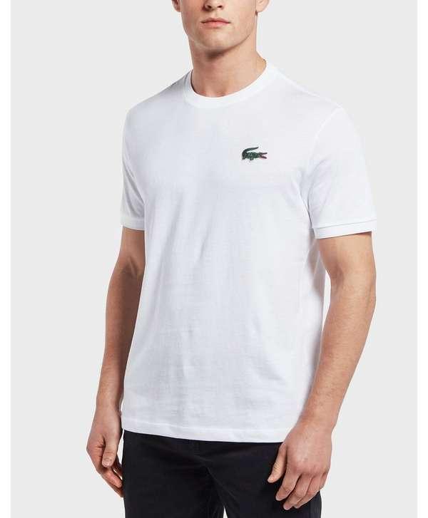 lacoste big croc logo short sleeve t shirt scotts menswear. Black Bedroom Furniture Sets. Home Design Ideas