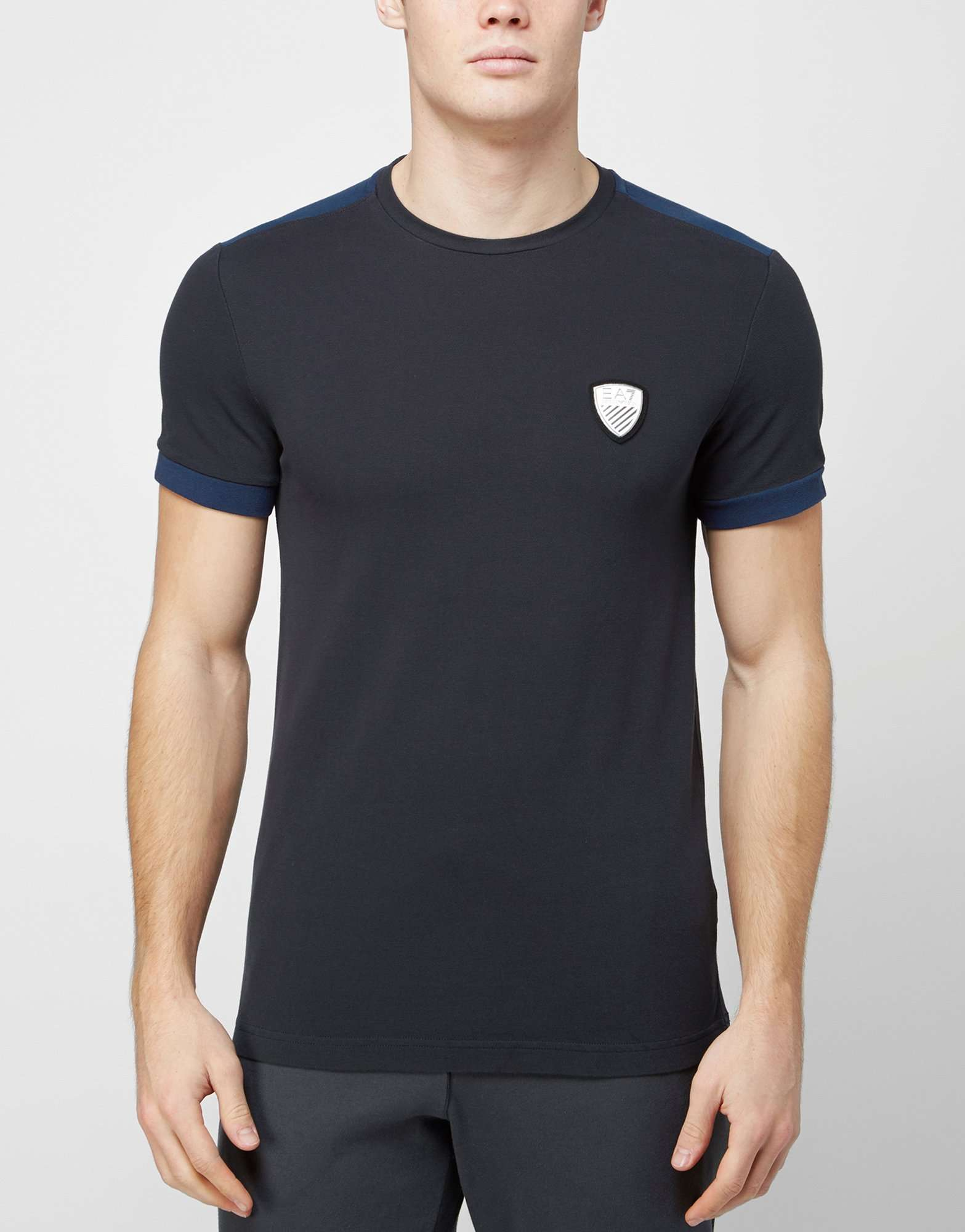 emporio armani ea7 pique t shirt scotts menswear. Black Bedroom Furniture Sets. Home Design Ideas