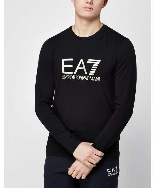 emporio armani ea7 vis logo long sleeve t shirt scotts. Black Bedroom Furniture Sets. Home Design Ideas
