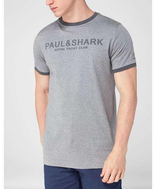 paul and shark premium crew t shirt scotts menswear. Black Bedroom Furniture Sets. Home Design Ideas