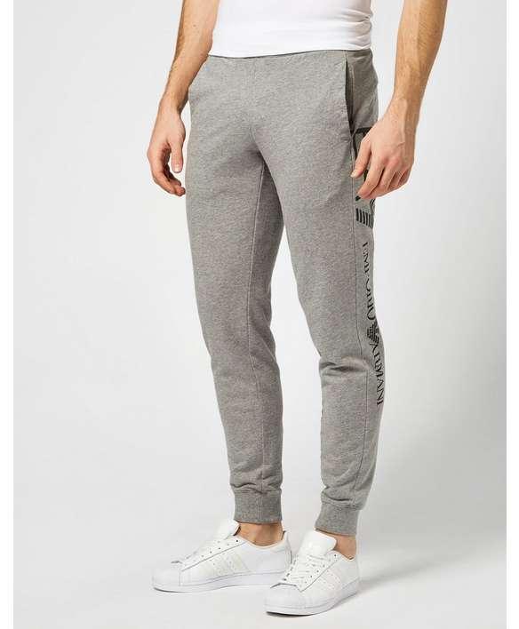 EA7 Logo Cuffed Fleece Pants