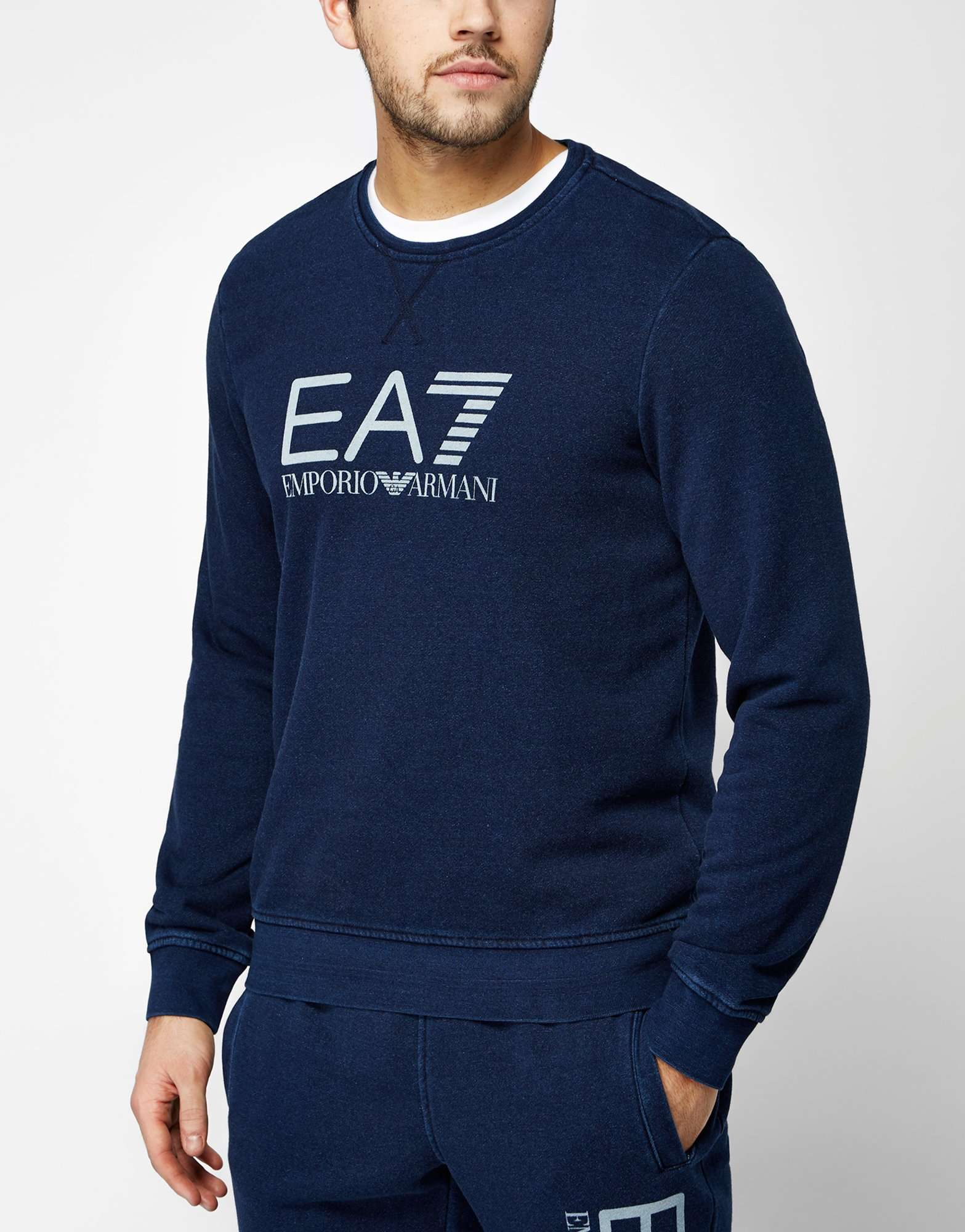 6e8d063809d Premium does sportswear with the latest EA7 Emporio Armani range here Mainline  Menswear A stylish yet