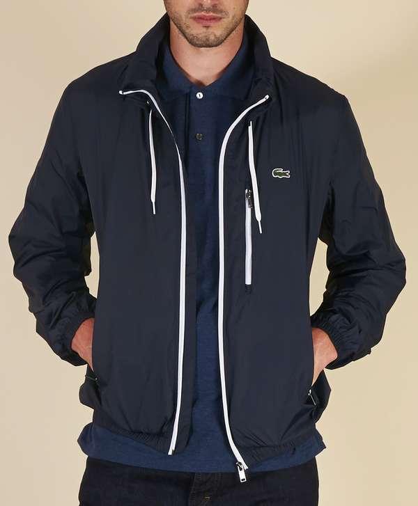 Lacoste Lightweight Nylon Jacket   scotts Menswear