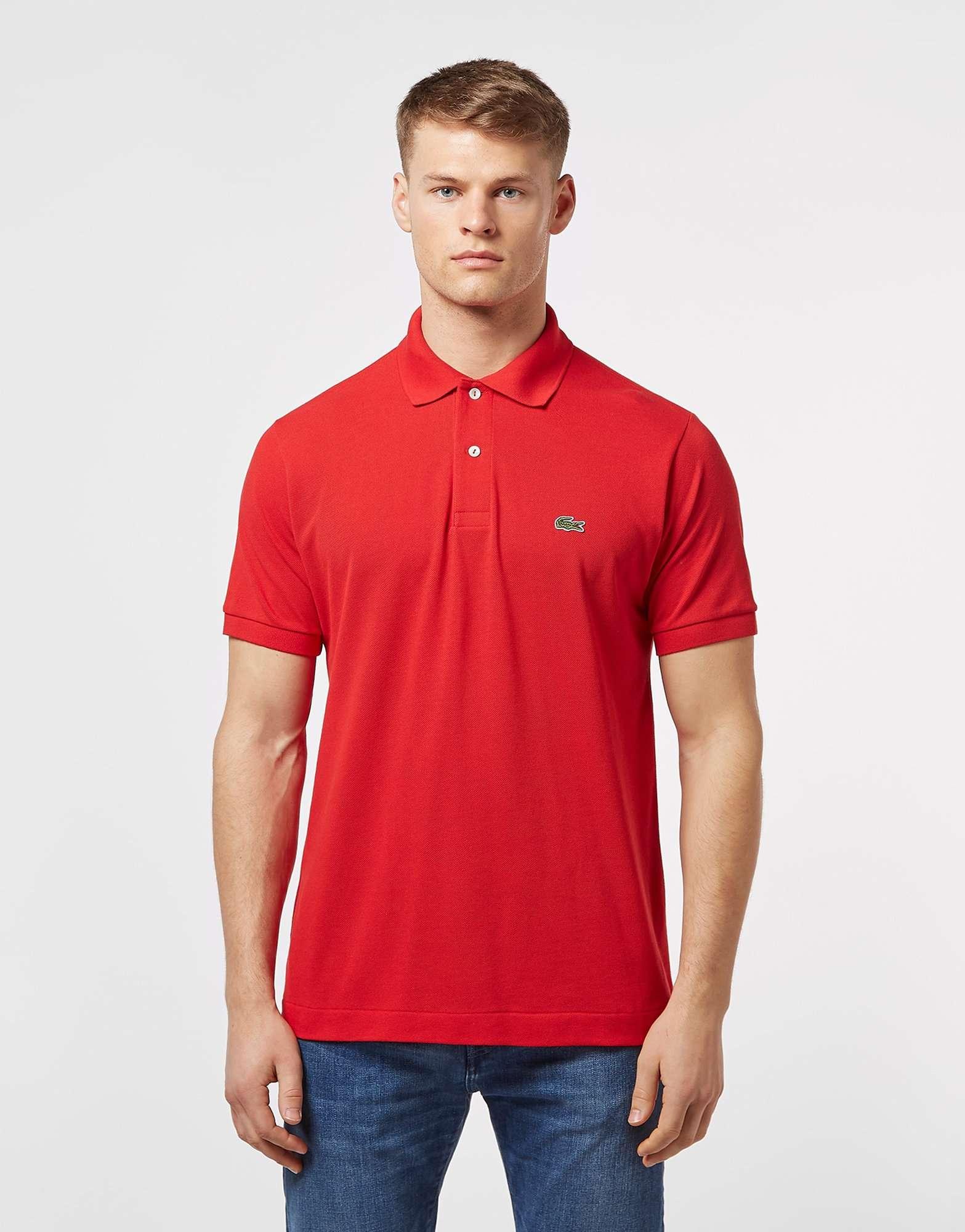 lacoste l1212 sleeve polo shirt scotts menswear