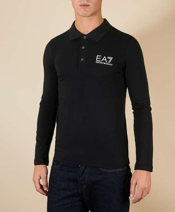 71ab33cd4 ... get emporio armani ea7 train core long sleeve polo shirt 065a8 264e6