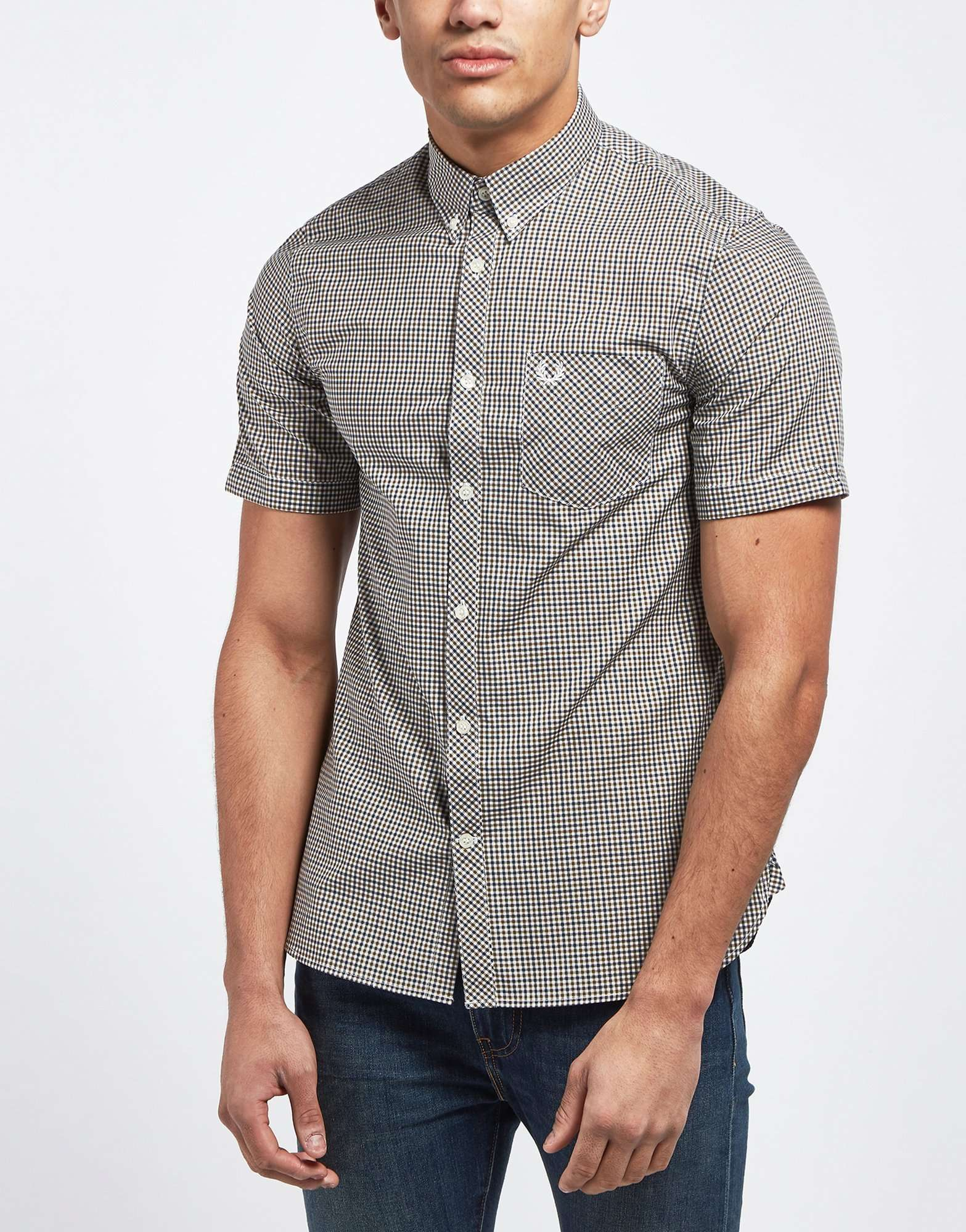 Fred Perry Short Sleeve Micro Gingham Shirt