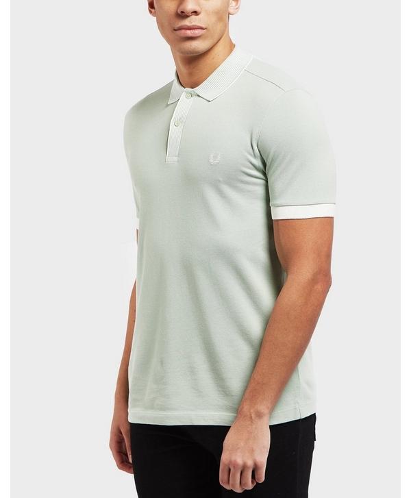 e34bb7341d Fred Perry Stripe Collar Short Sleeve Polo Shirt
