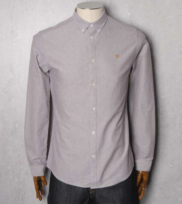 farah vintage hudson oxford long sleeve shirt scotts