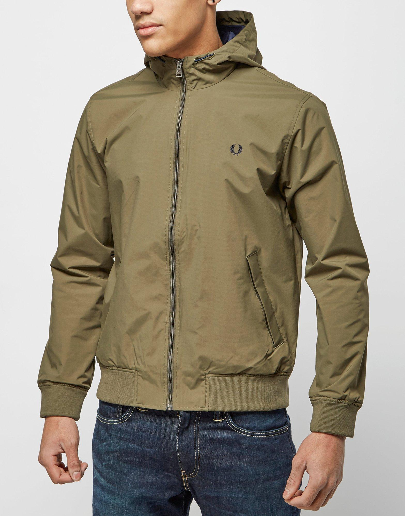 Fred perry green padded parka jacket