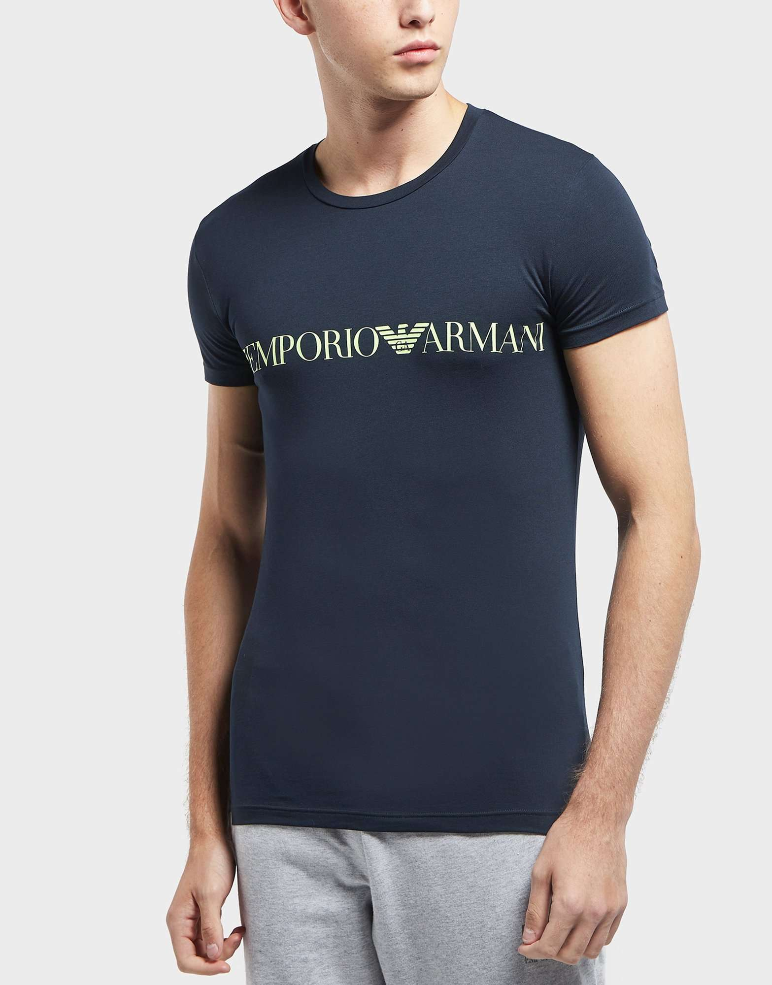 Emporio Armani Chest Band Short Sleeve T-Shirt