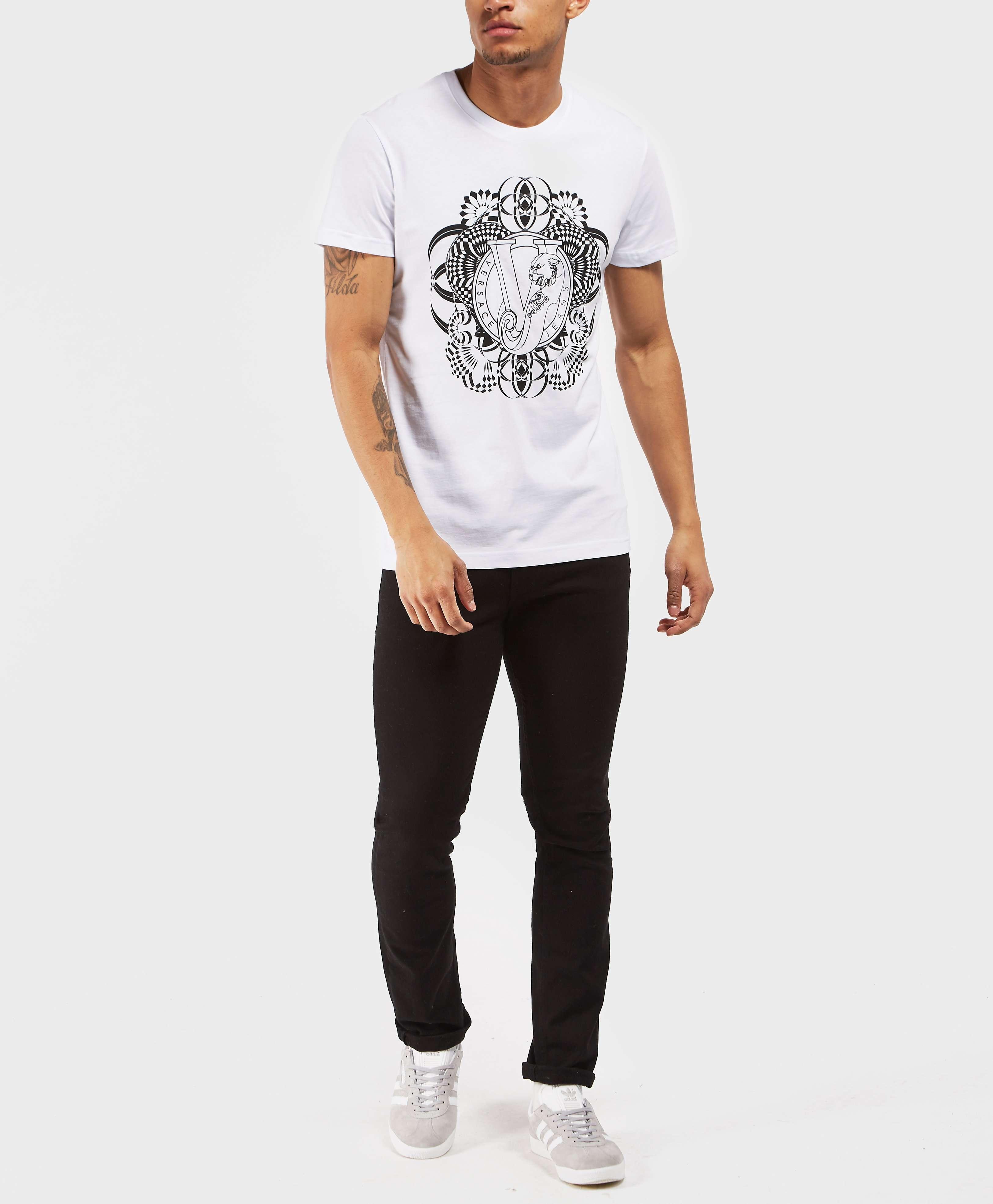 Versace Jeans Geo Flower Short Sleeve T-Shirt