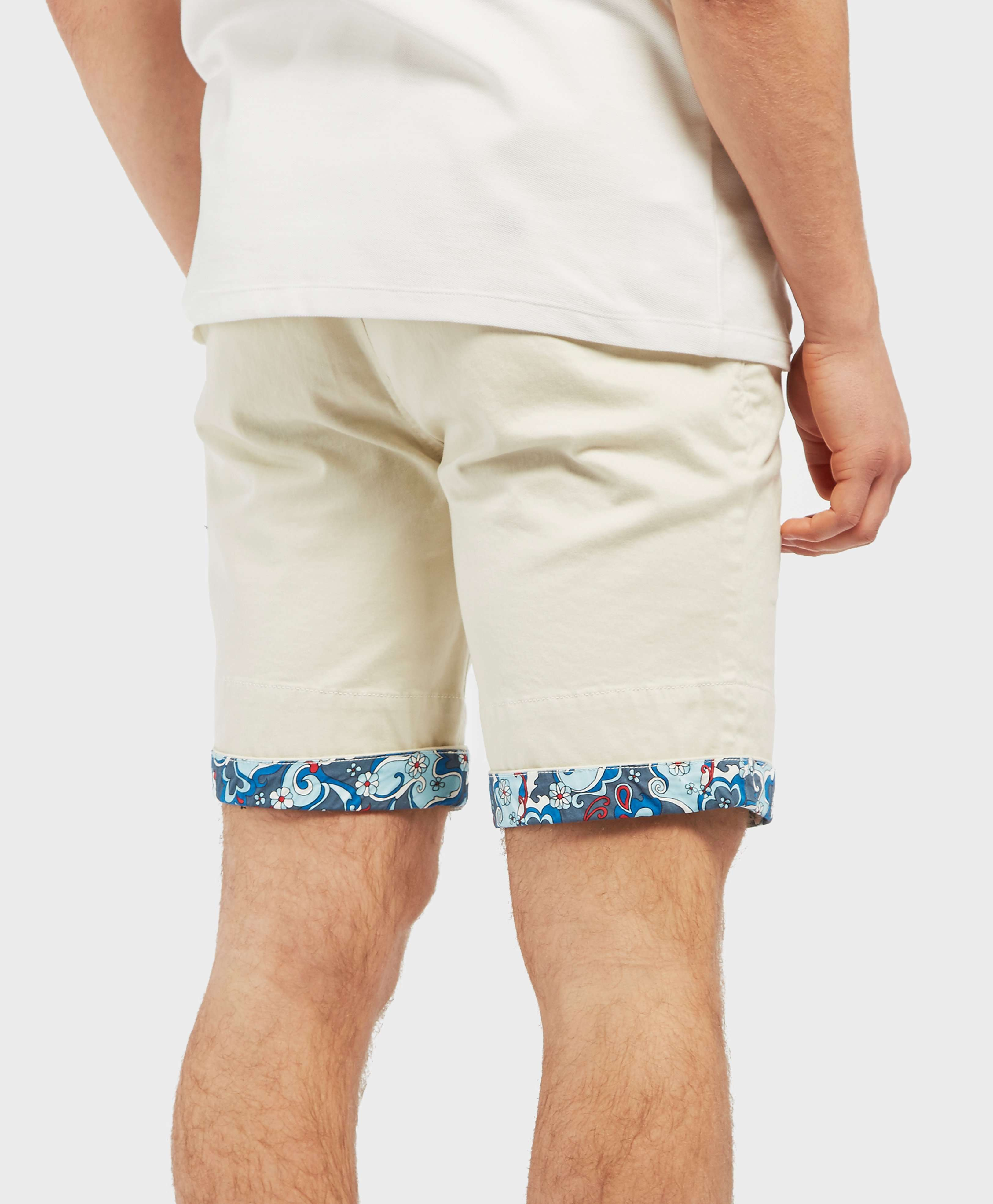 Pretty Green Beaufort Paisley Turn Up Shorts - Exclusive