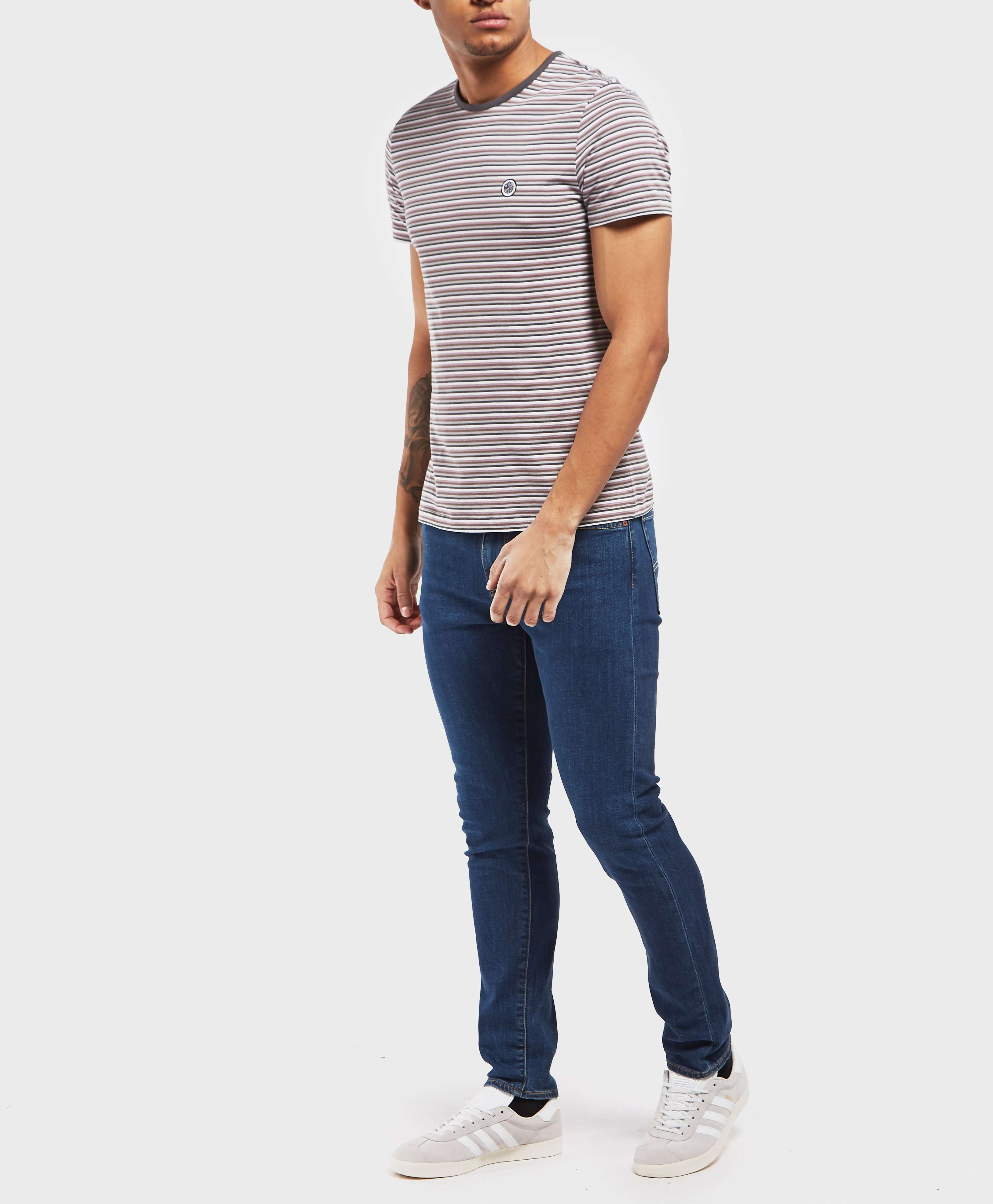 Pretty Green Hawkley Stripe Short Sleeve T-Shirt