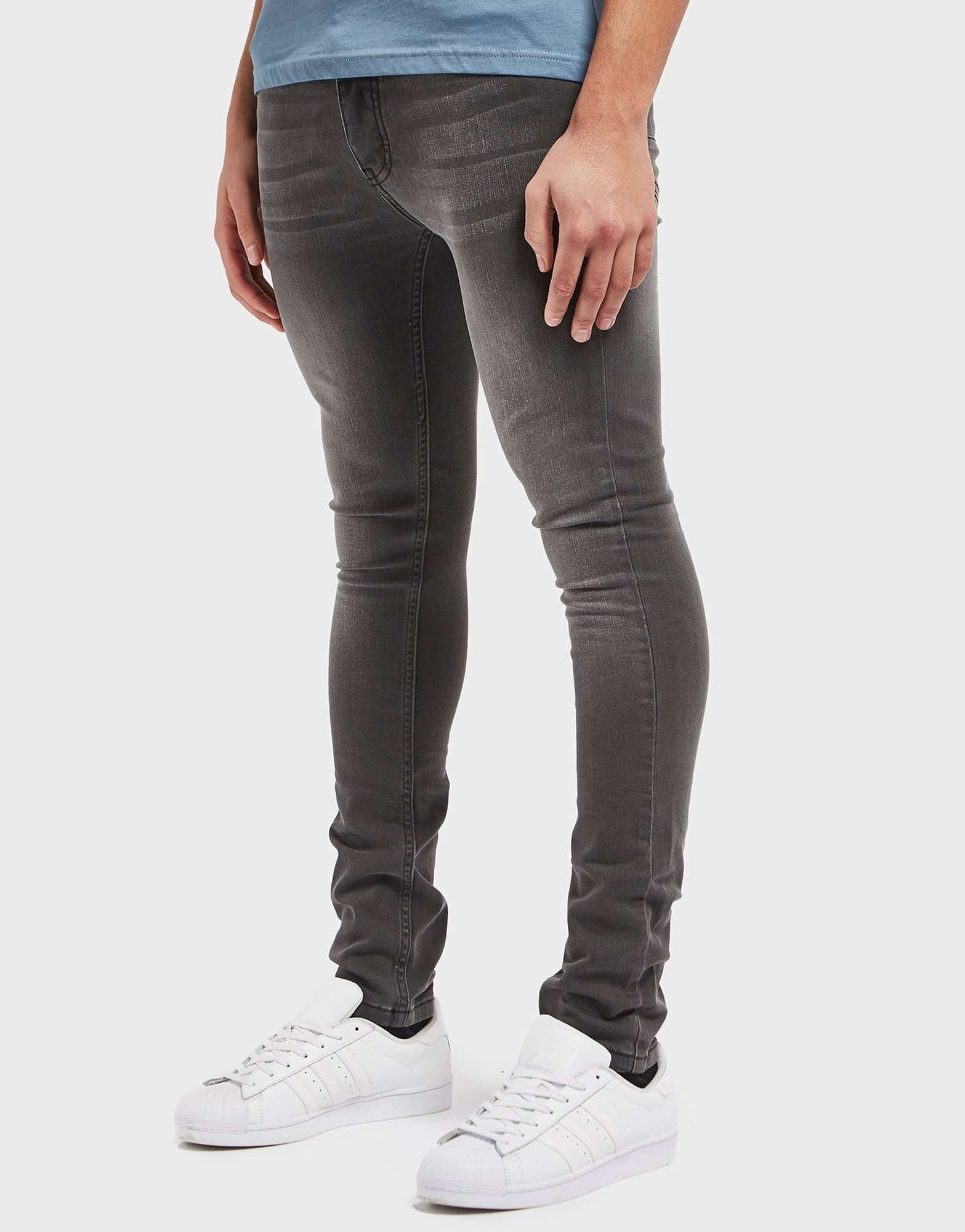 One True Saxon Grey Wash Skinny Jeans - Exclusive