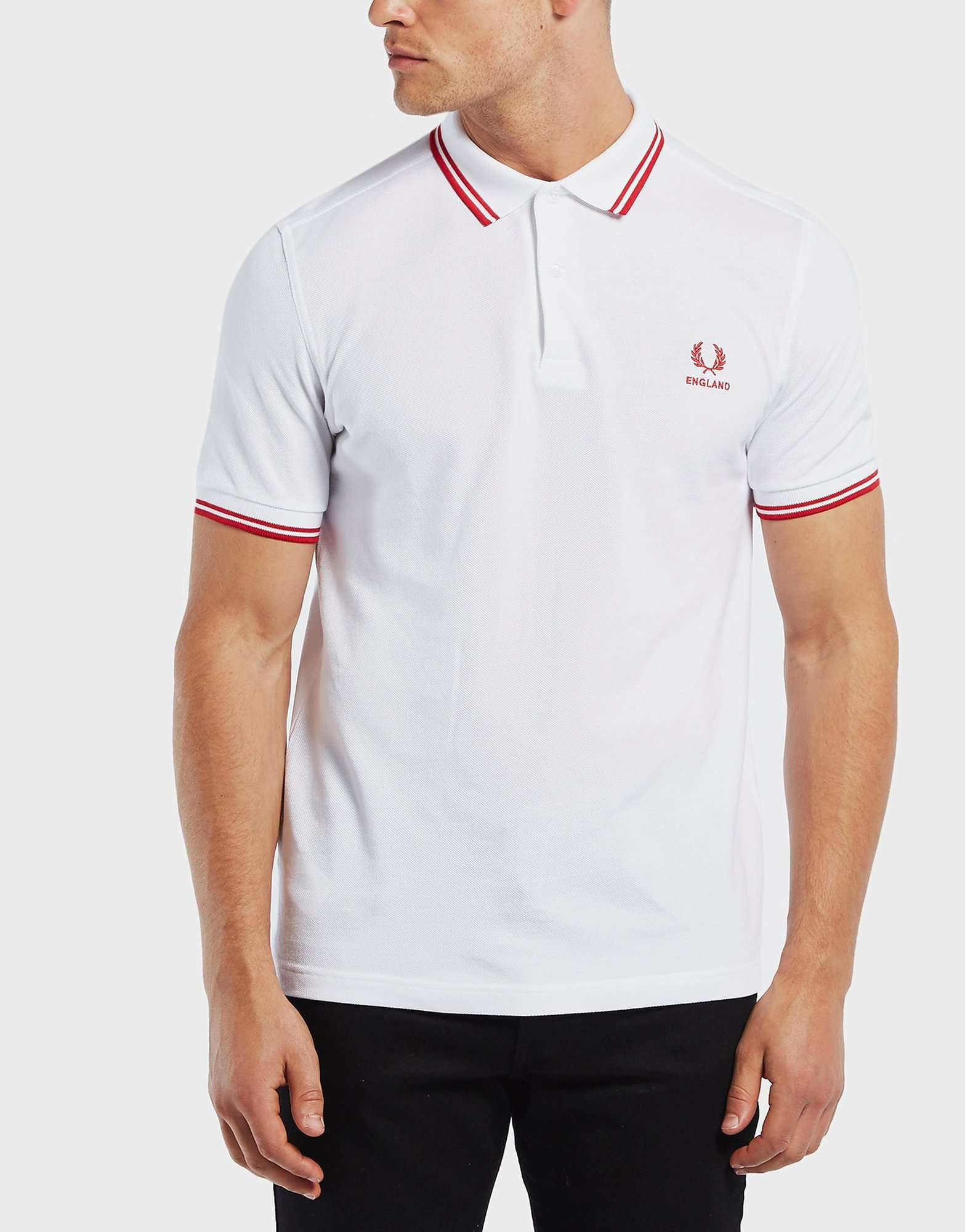 Fred Perry England Twin Tipped Short Sleeve Polo Shirt