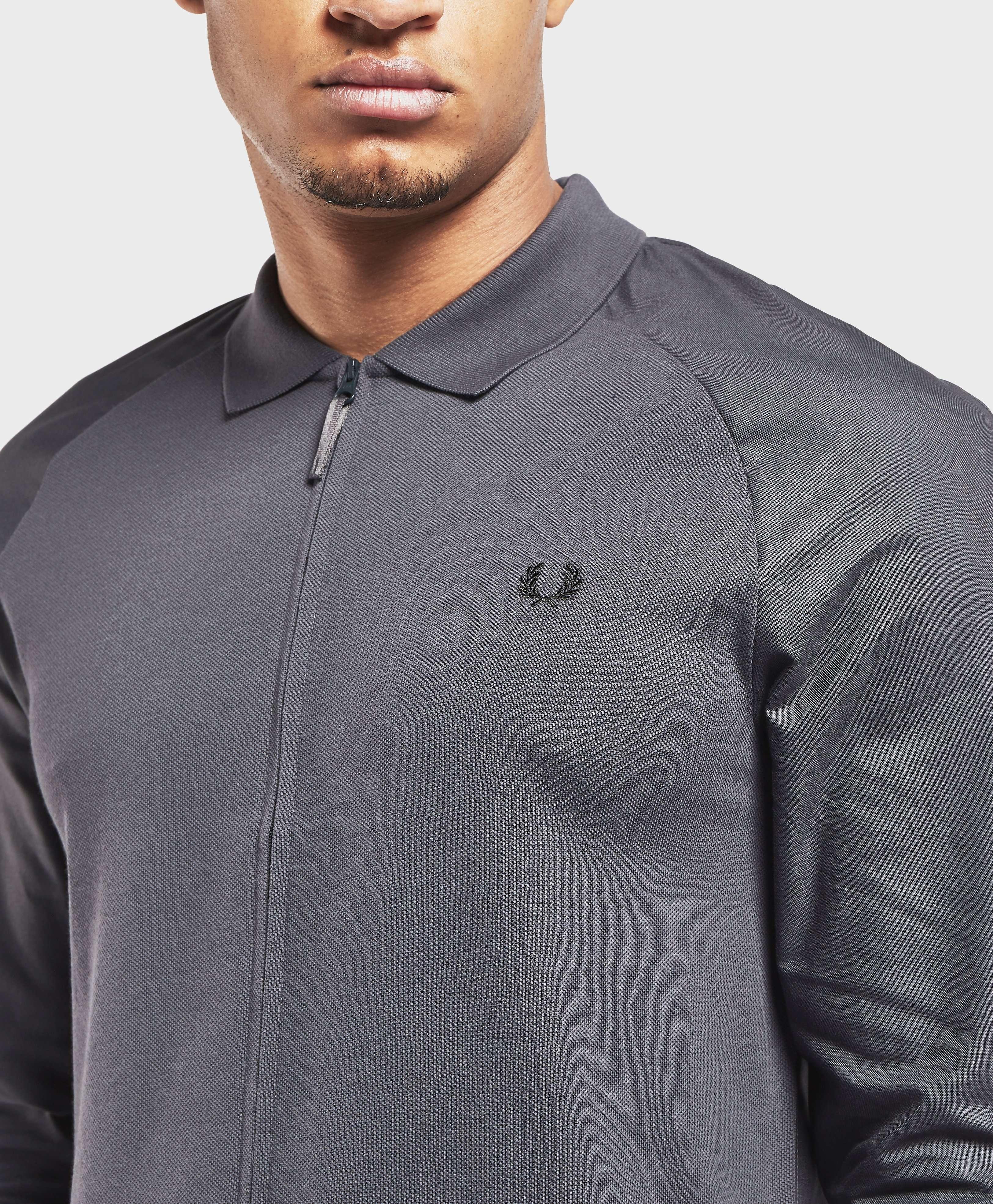 Fred Perry Raglan Full Zip Long Sleeve Shirt