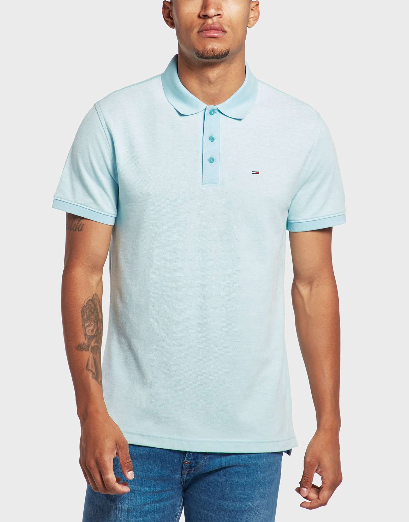 Tommy Jeans Oxford Pique Short Sleeve Polo Shirt