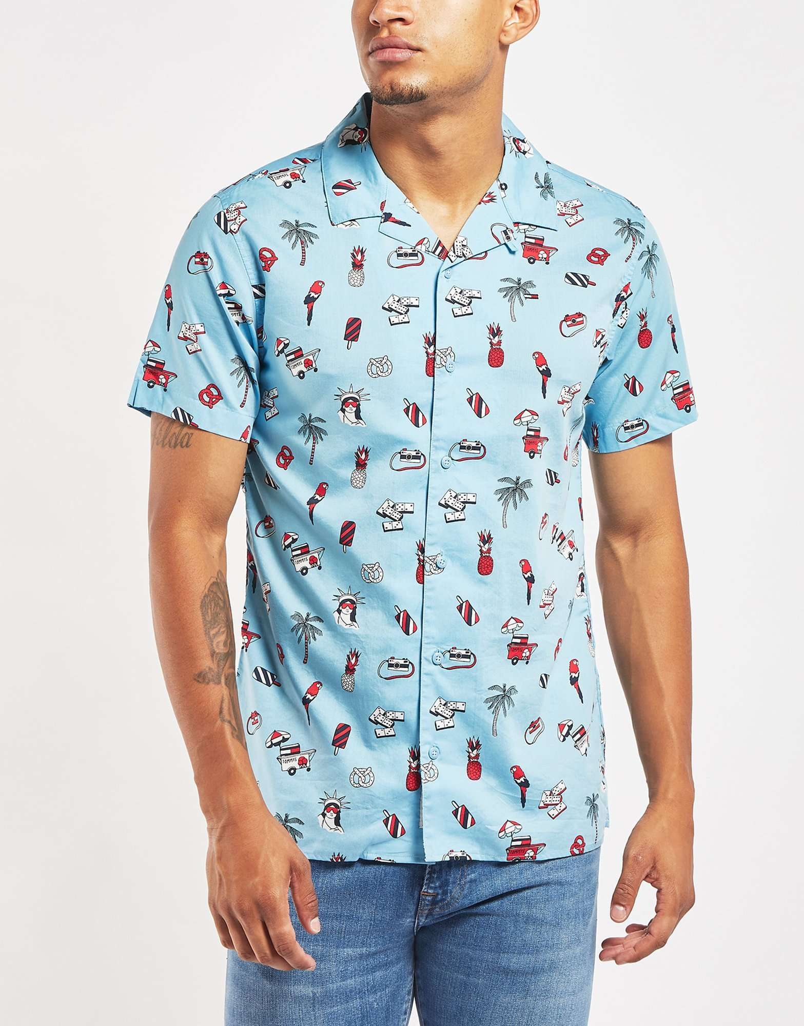 Tommy Jeans Ice Cream Short Sleeve Shirt - Online Exclusive