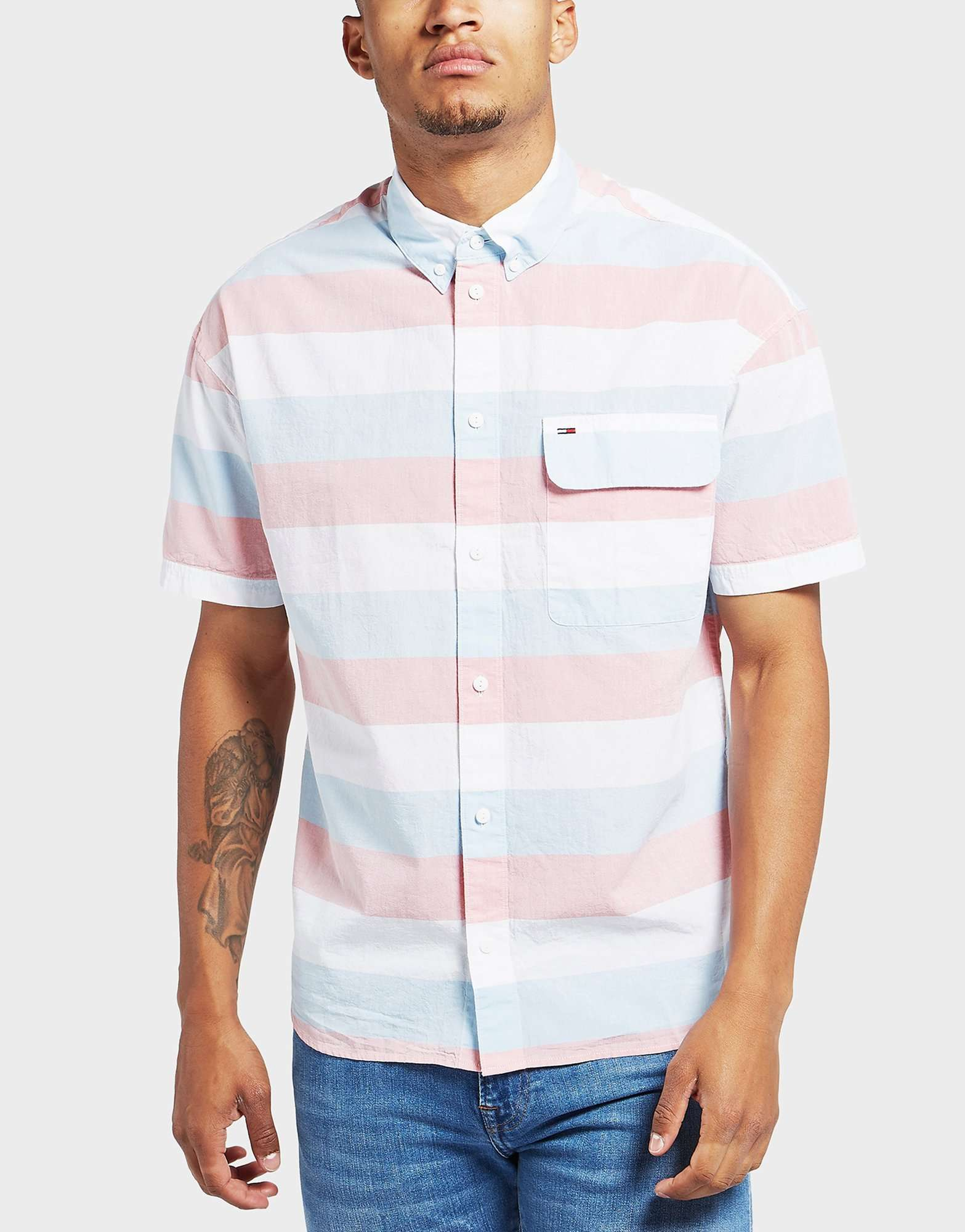 Tommy Jeans Stripe Short Sleeve Shirt