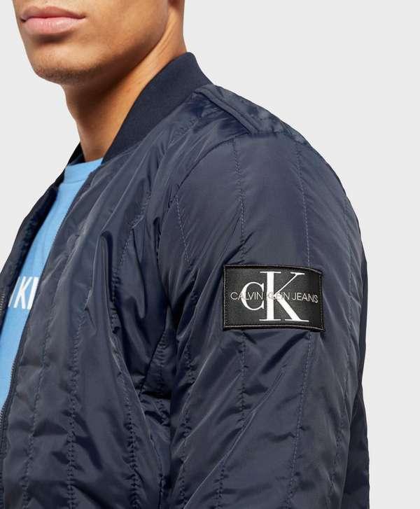 Calvin Klein Double Quilted Nylon Bomber Jacket Scotts Menswear