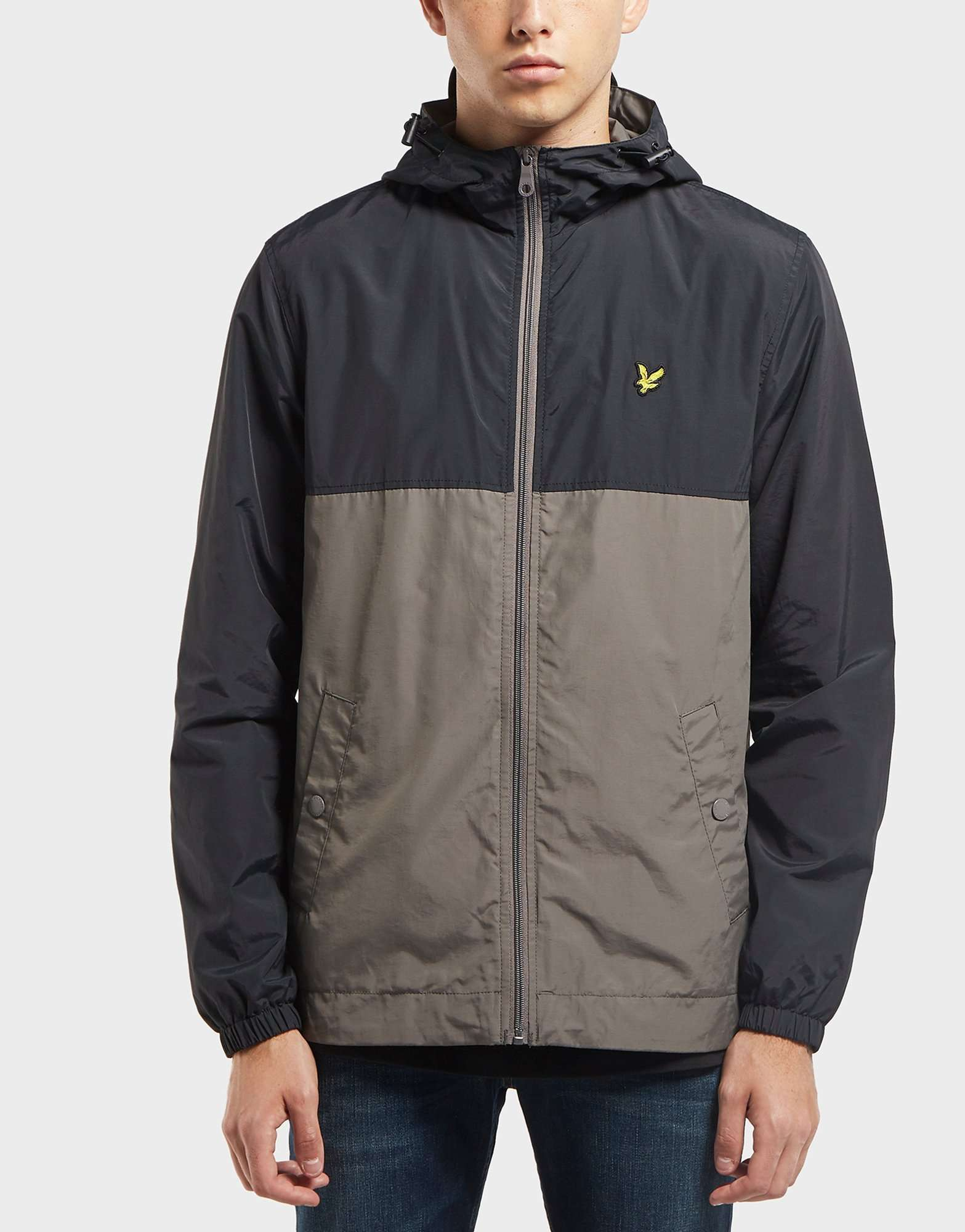Lyle & Scott Colour Block Zip Through Jacket