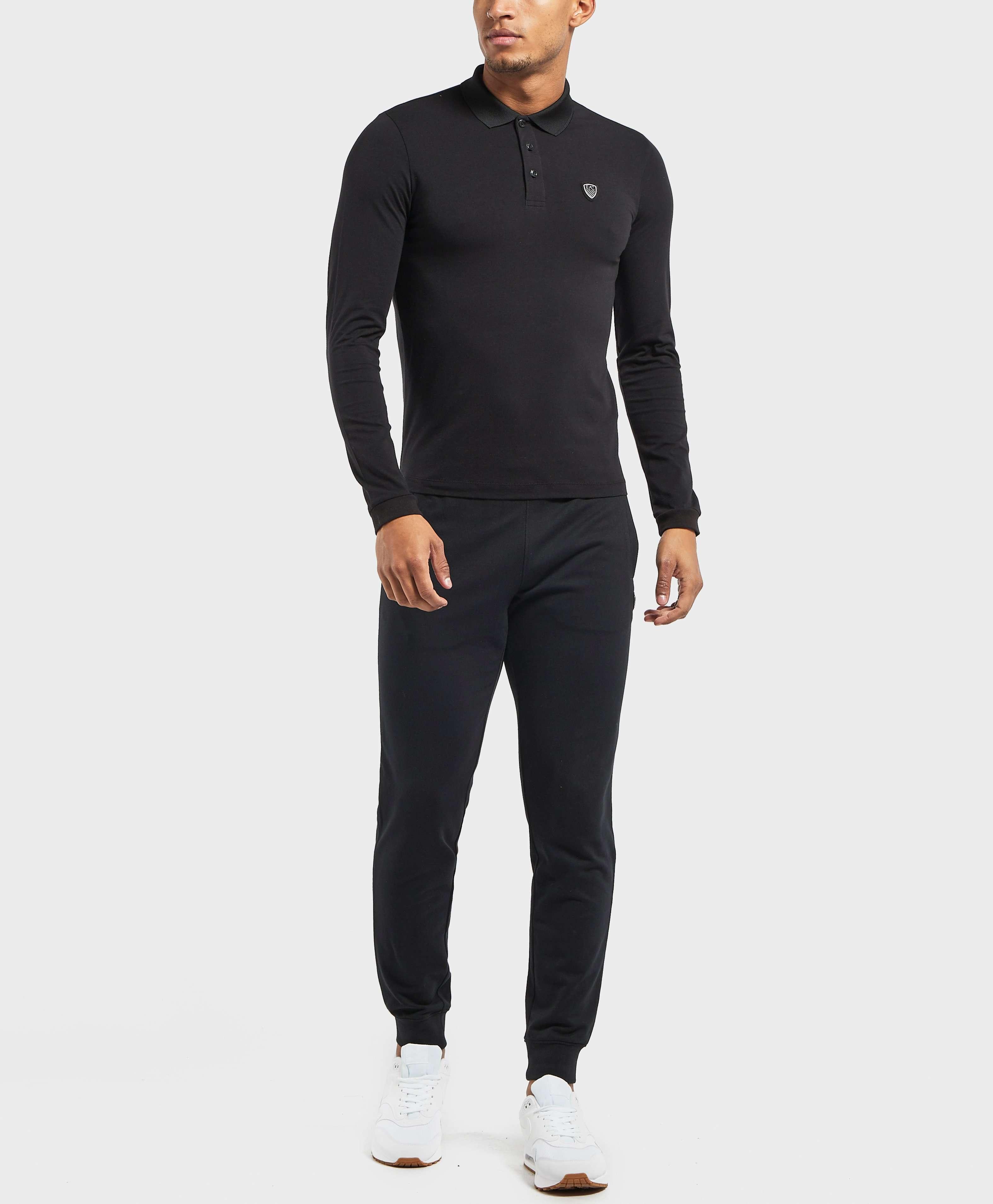 Emporio Armani EA7 Core Shield Long Sleeve Polo Shirt