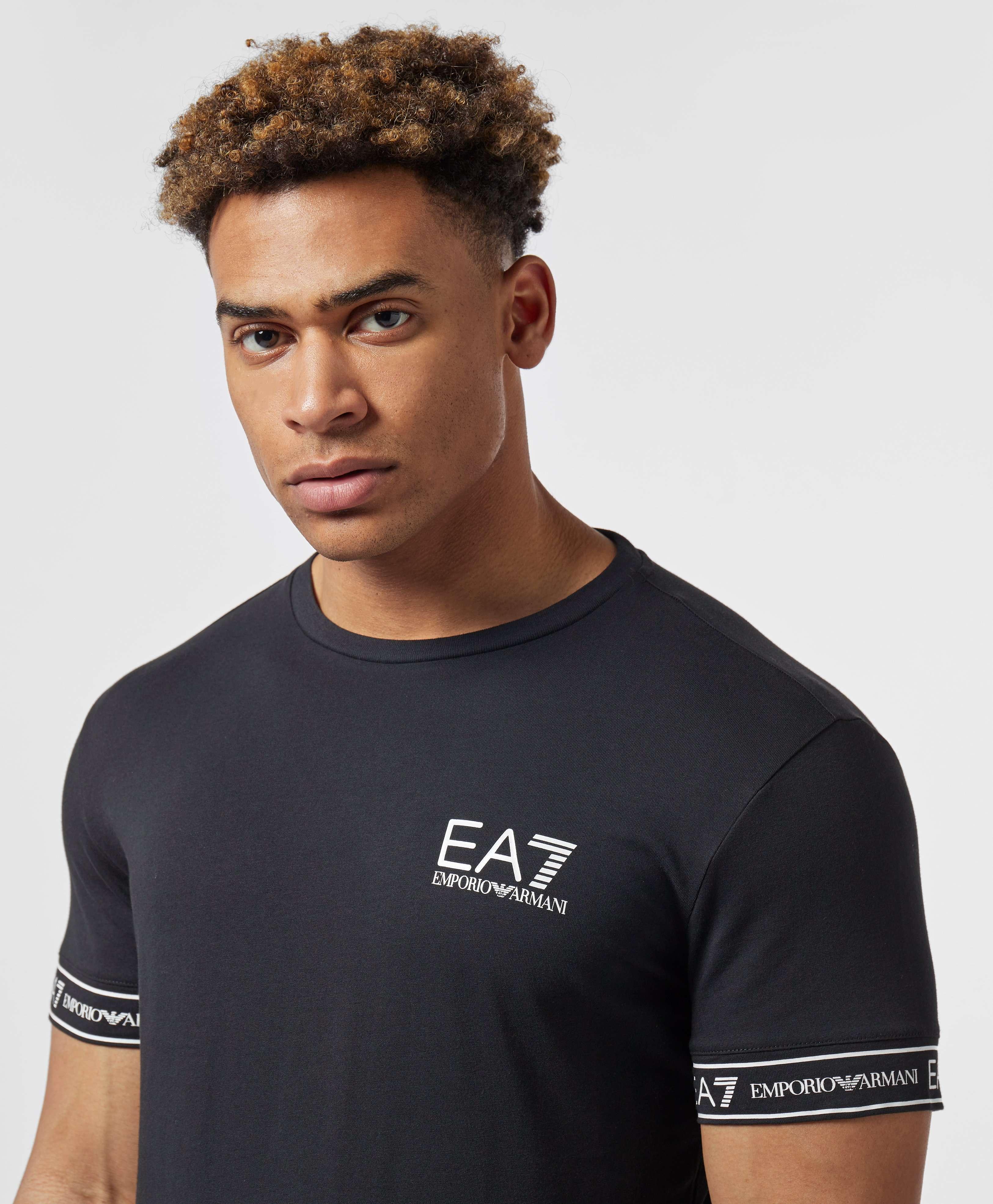 Emporio Armani EA7 Tape Cuff Short Sleeve T-Shirt