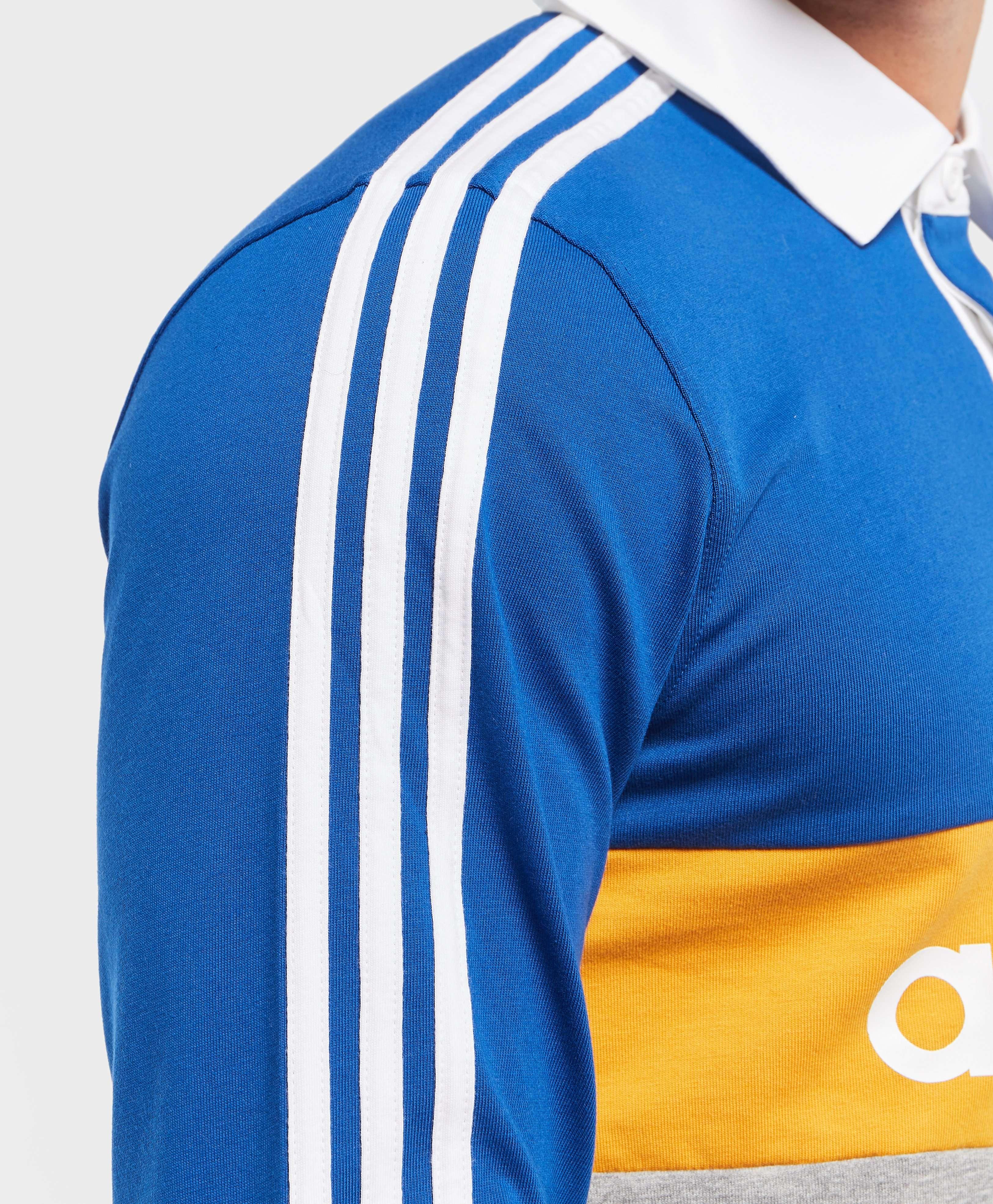 Adidas Originals Heritage Long Sleeve Rugby Polo Shirt Scotts Menswear
