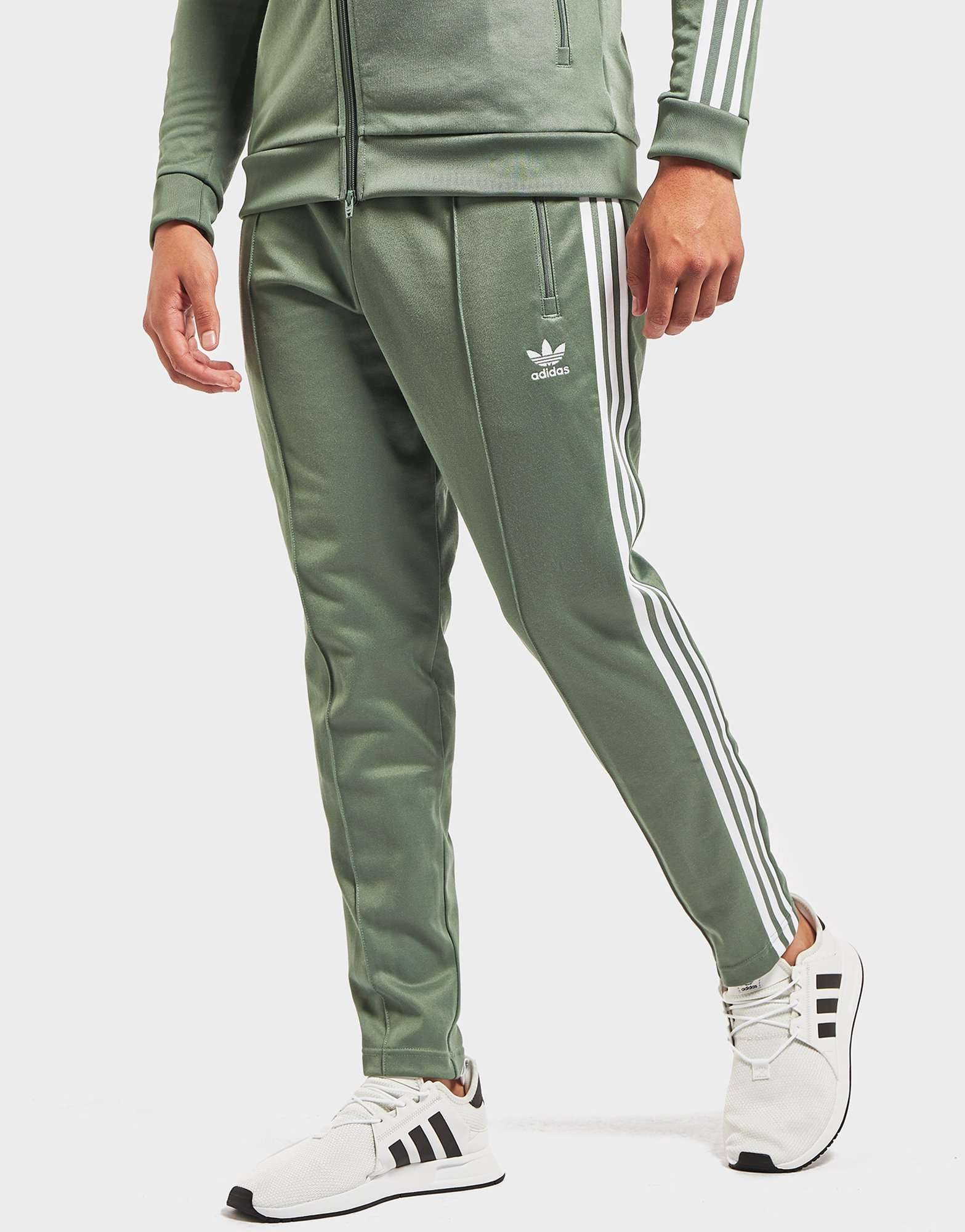 detailed look f57a7 c05ee adidas originals beckenbauer cuffed track pants