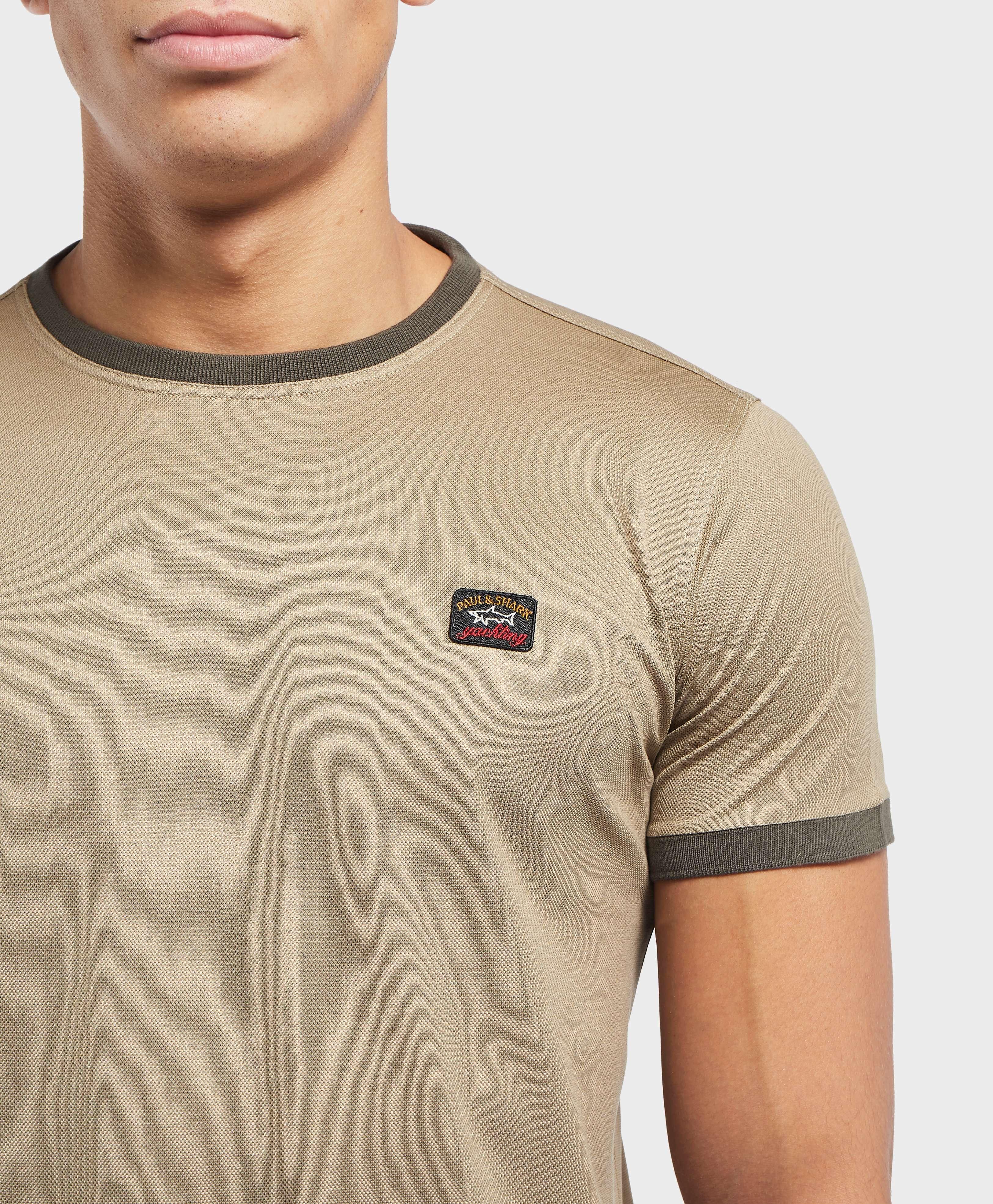 Paul and Shark Pique Ringer Short Sleeve T-Shirt