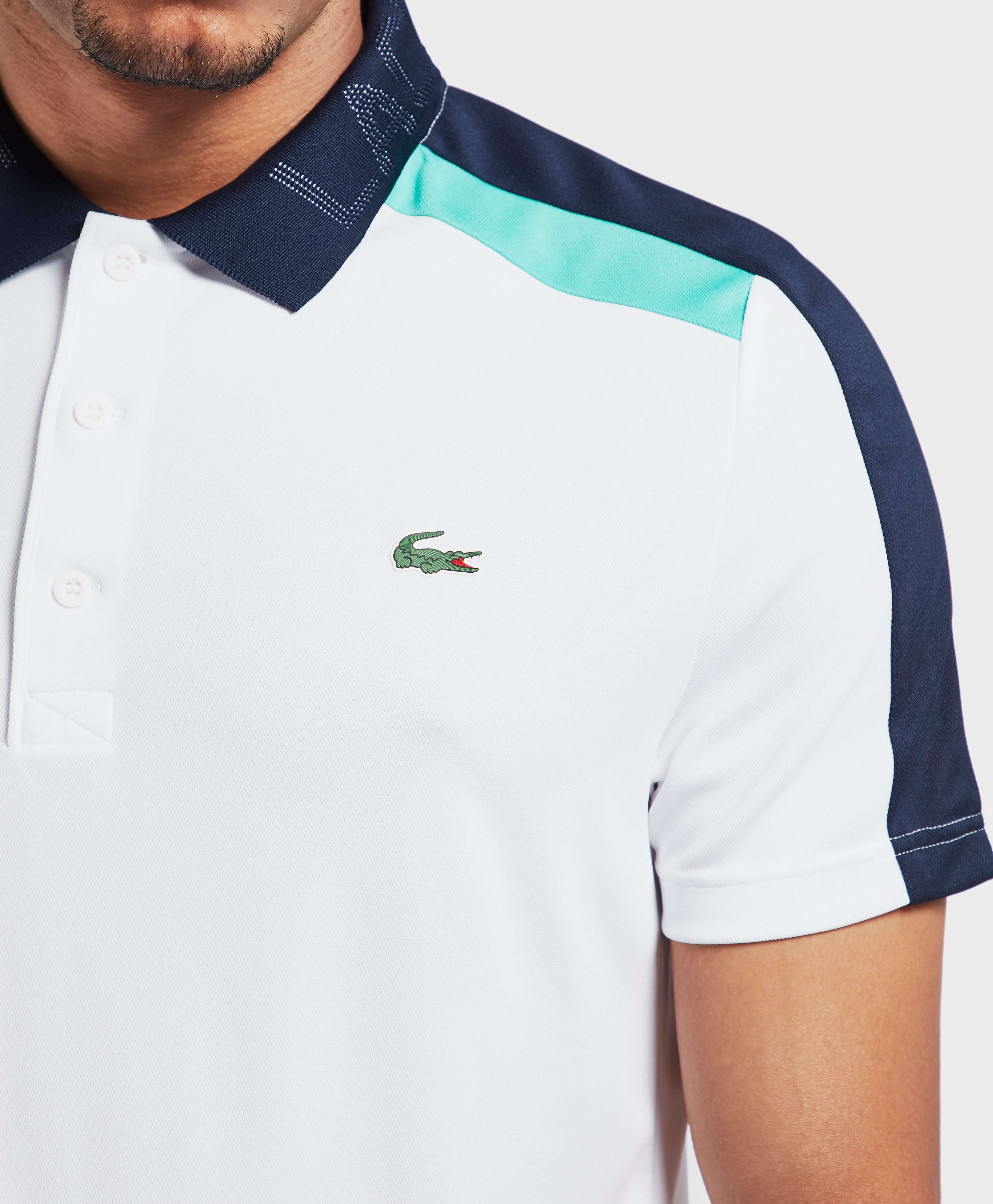 Lacoste Poly Branded Neck Short Sleeve Polo Shirt