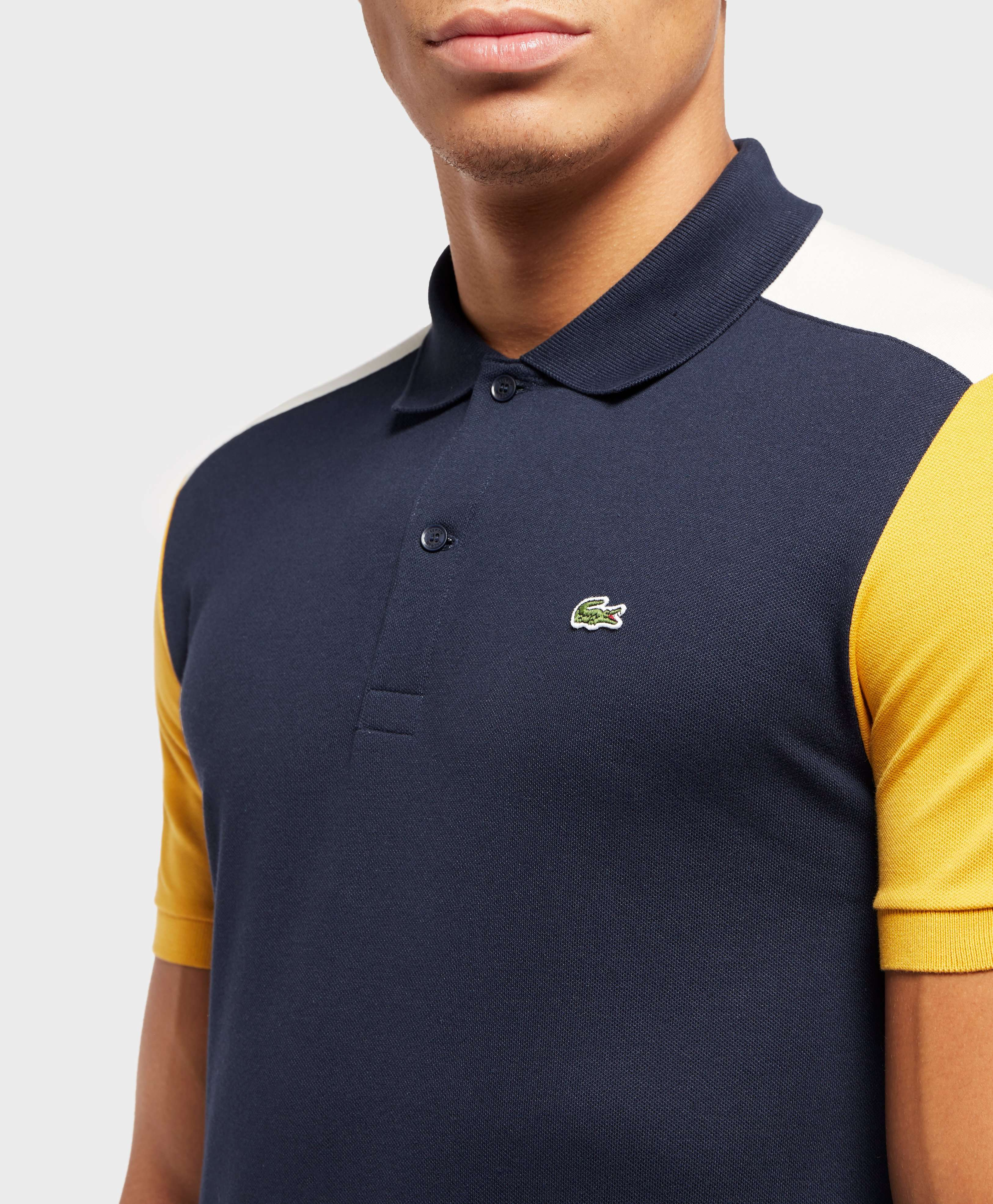 Lacoste Block Sleeve Short Sleeve Polo Shirt