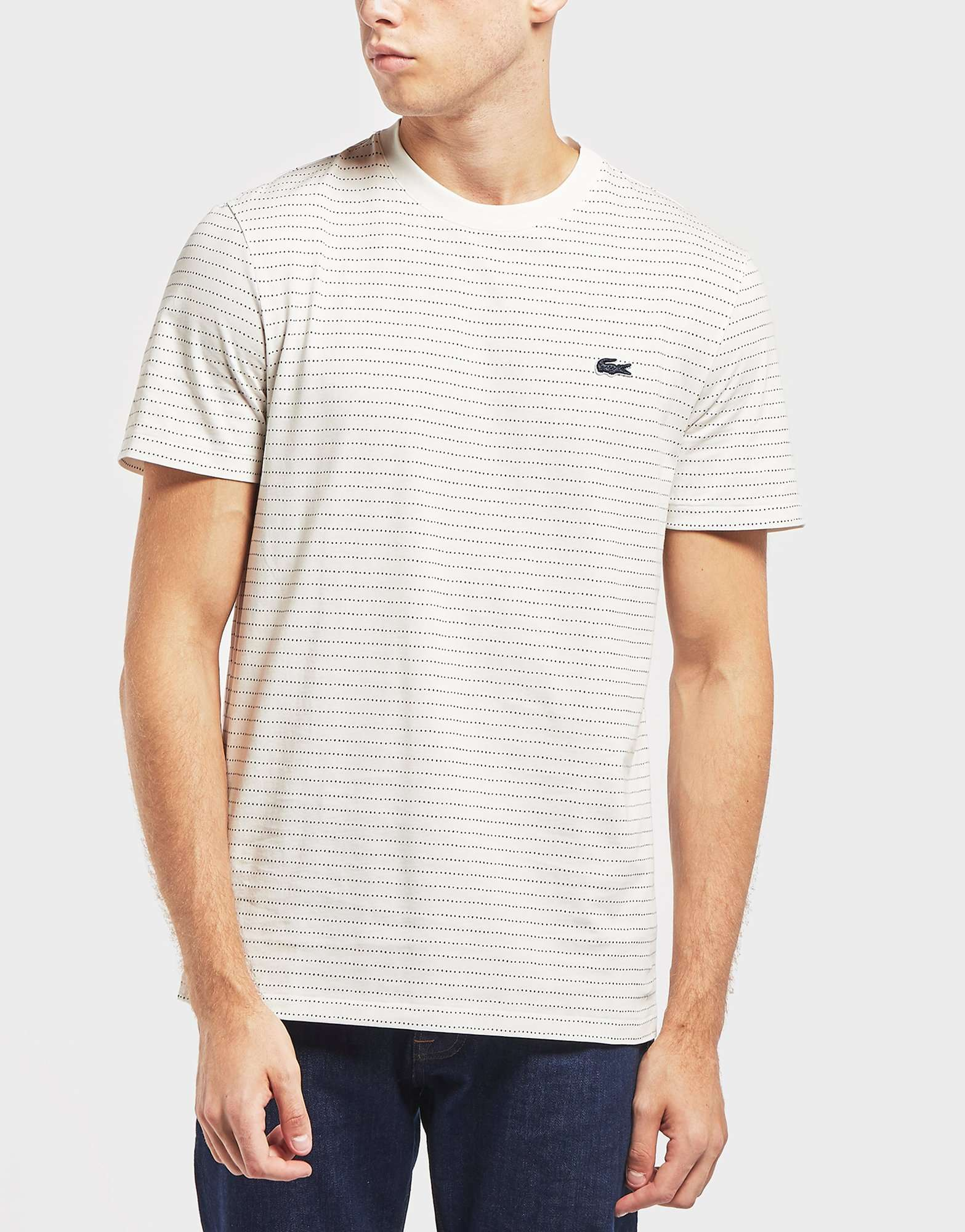 Lacoste Dot Stripe Short Sleeve T-Shirt