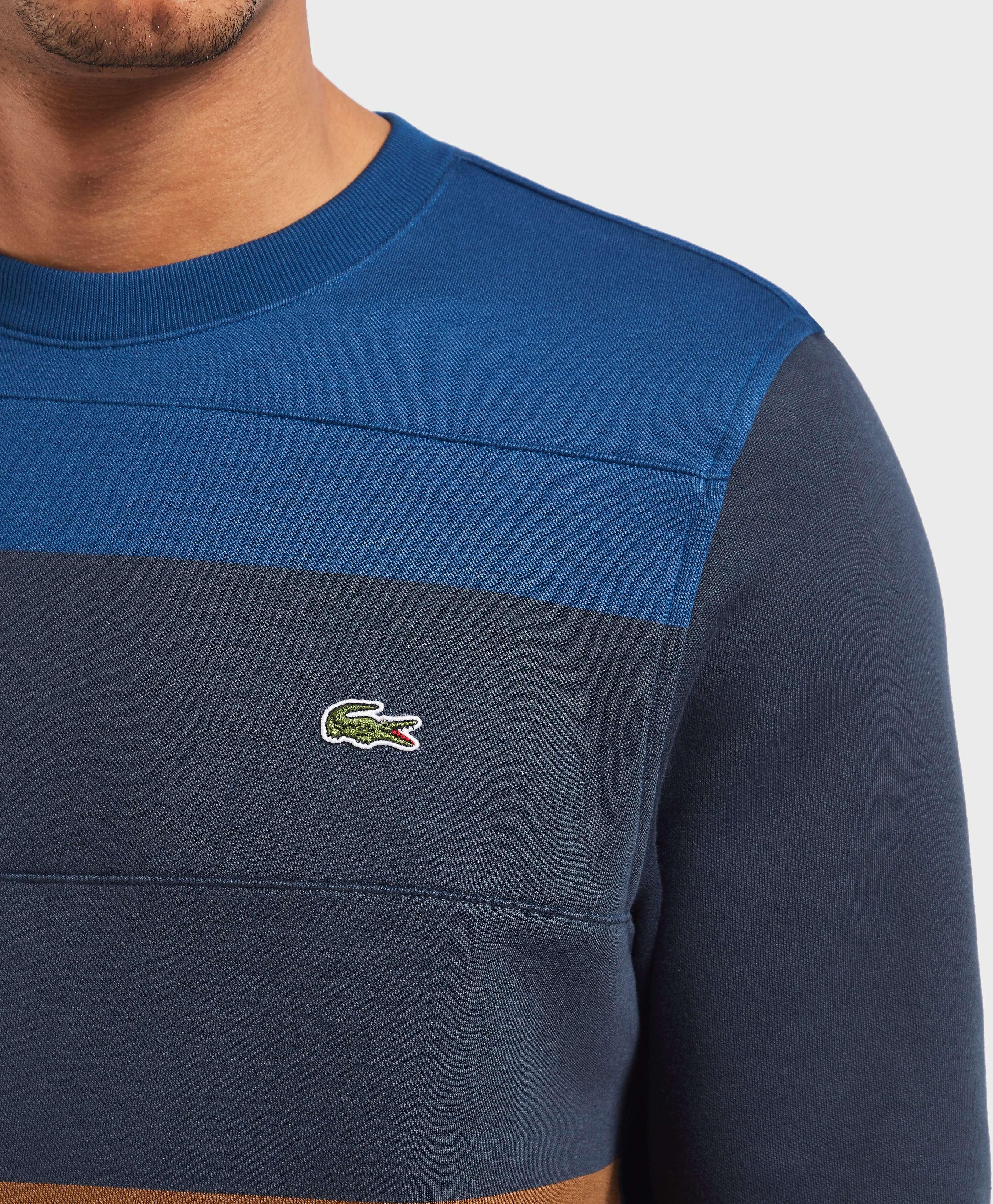 Lacoste Block Stripe Crew Sweatshirt