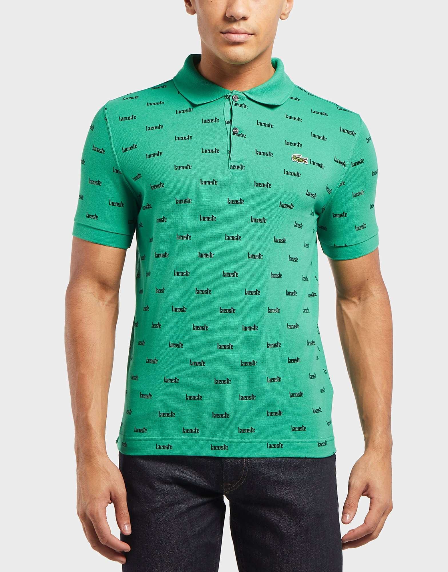Lacoste All Over Logo Short Sleeve Polo Shirt