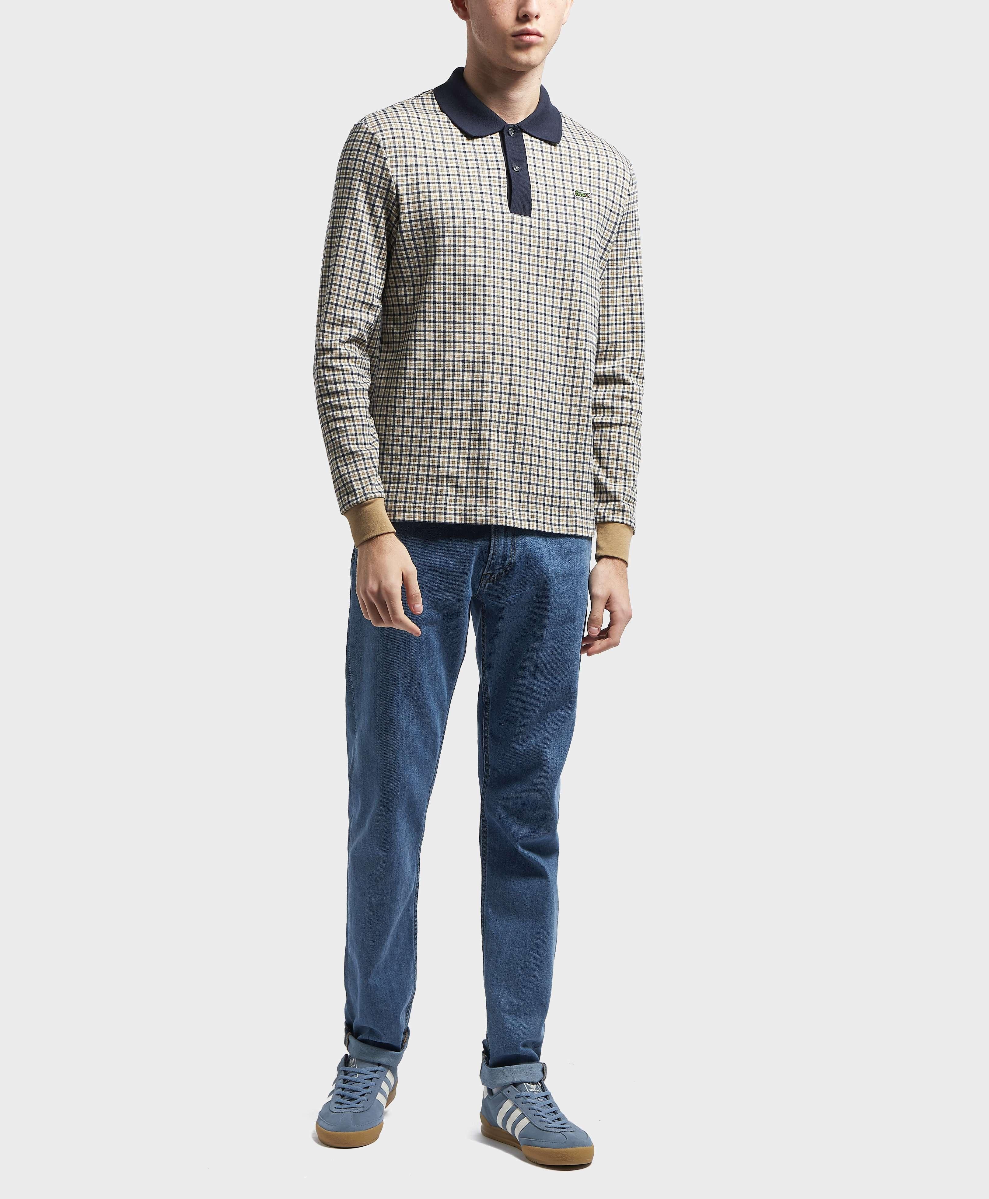 Lacoste Check Long Sleeve Polo Shirt