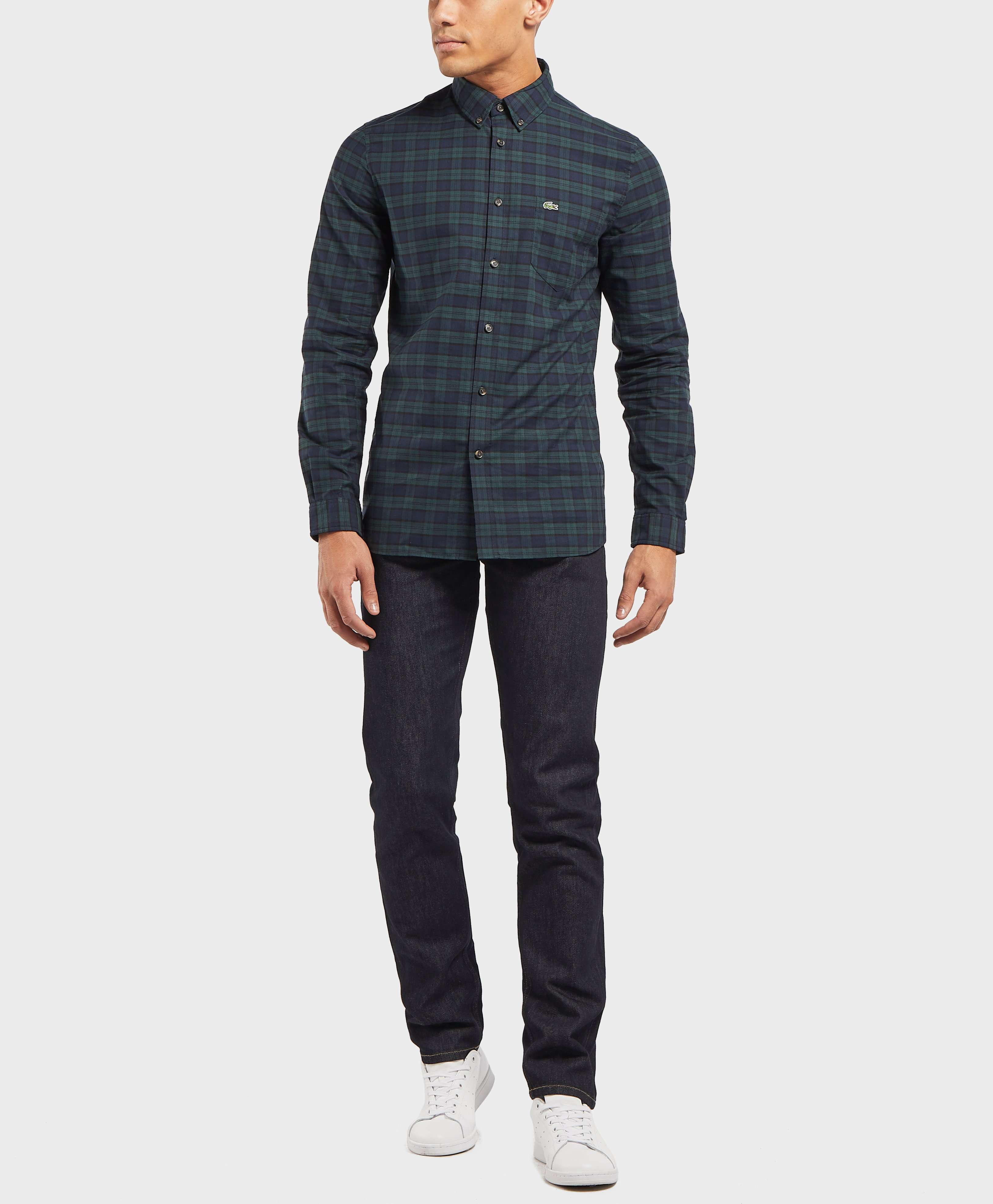 Lacoste Check Twill Long Sleeve Shirt