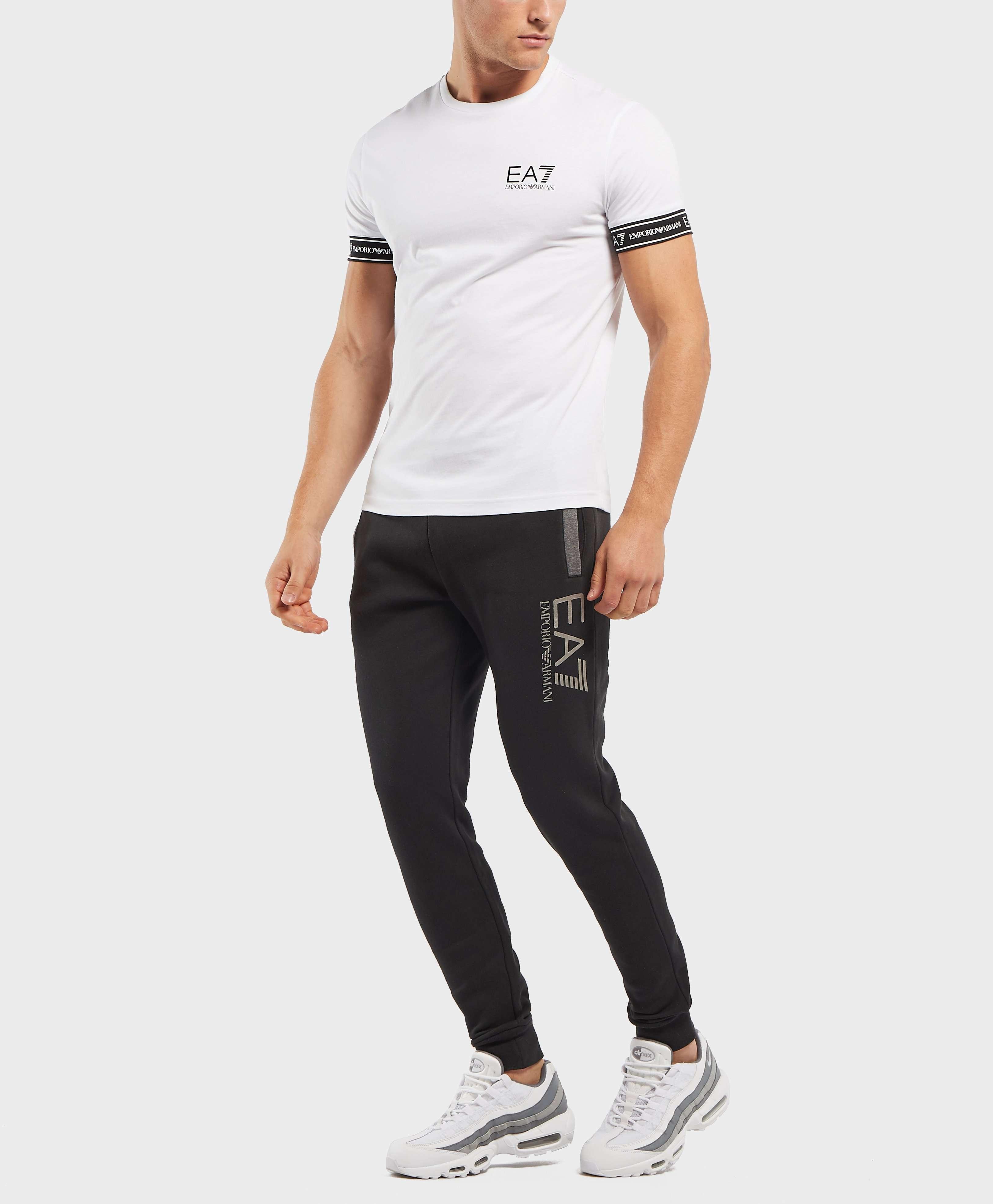 Emporio Armani EA7 Tritonal Cuffed Fleece Pants
