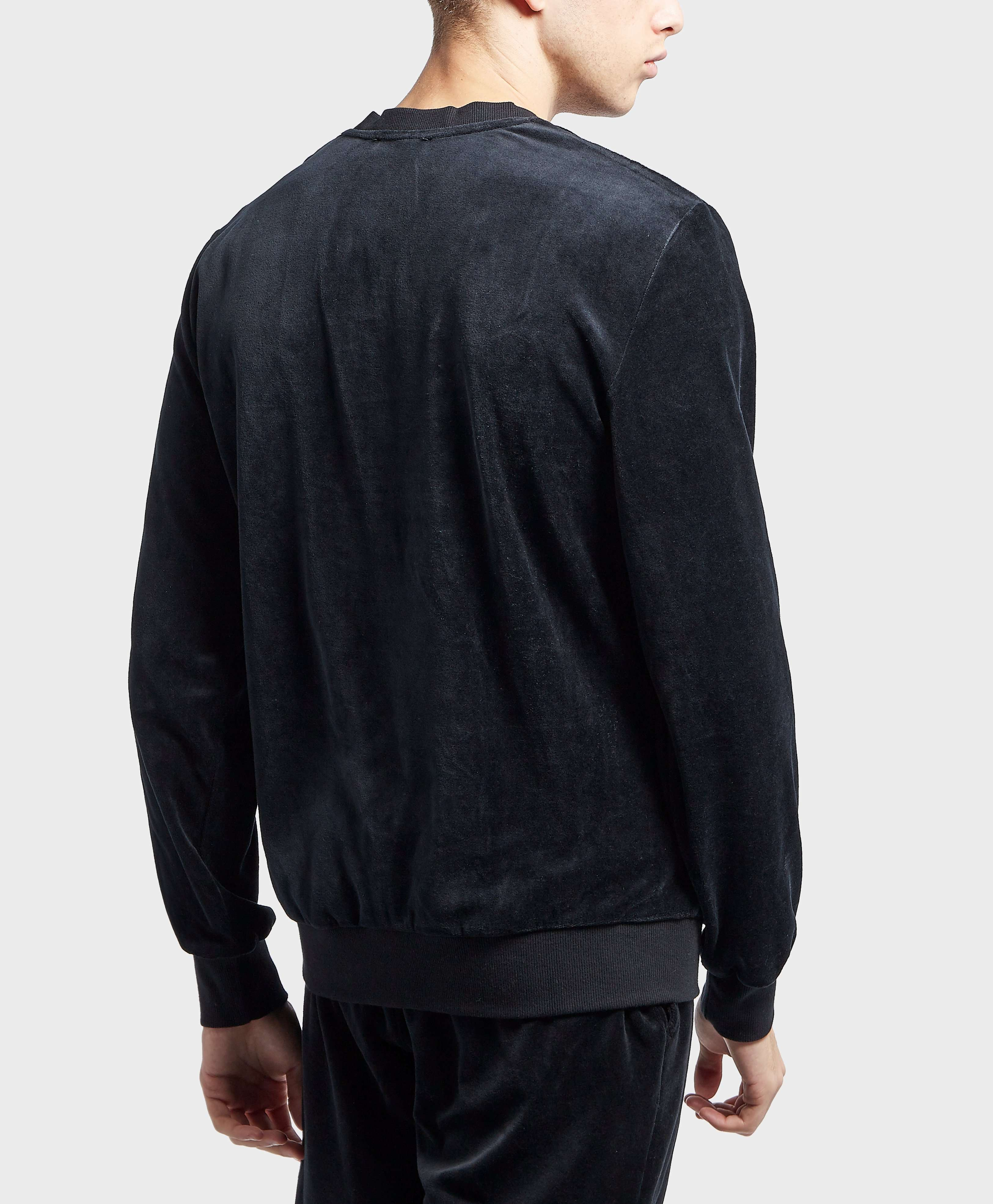 Emporio Armani Velour Crew Neck Sweatshirt
