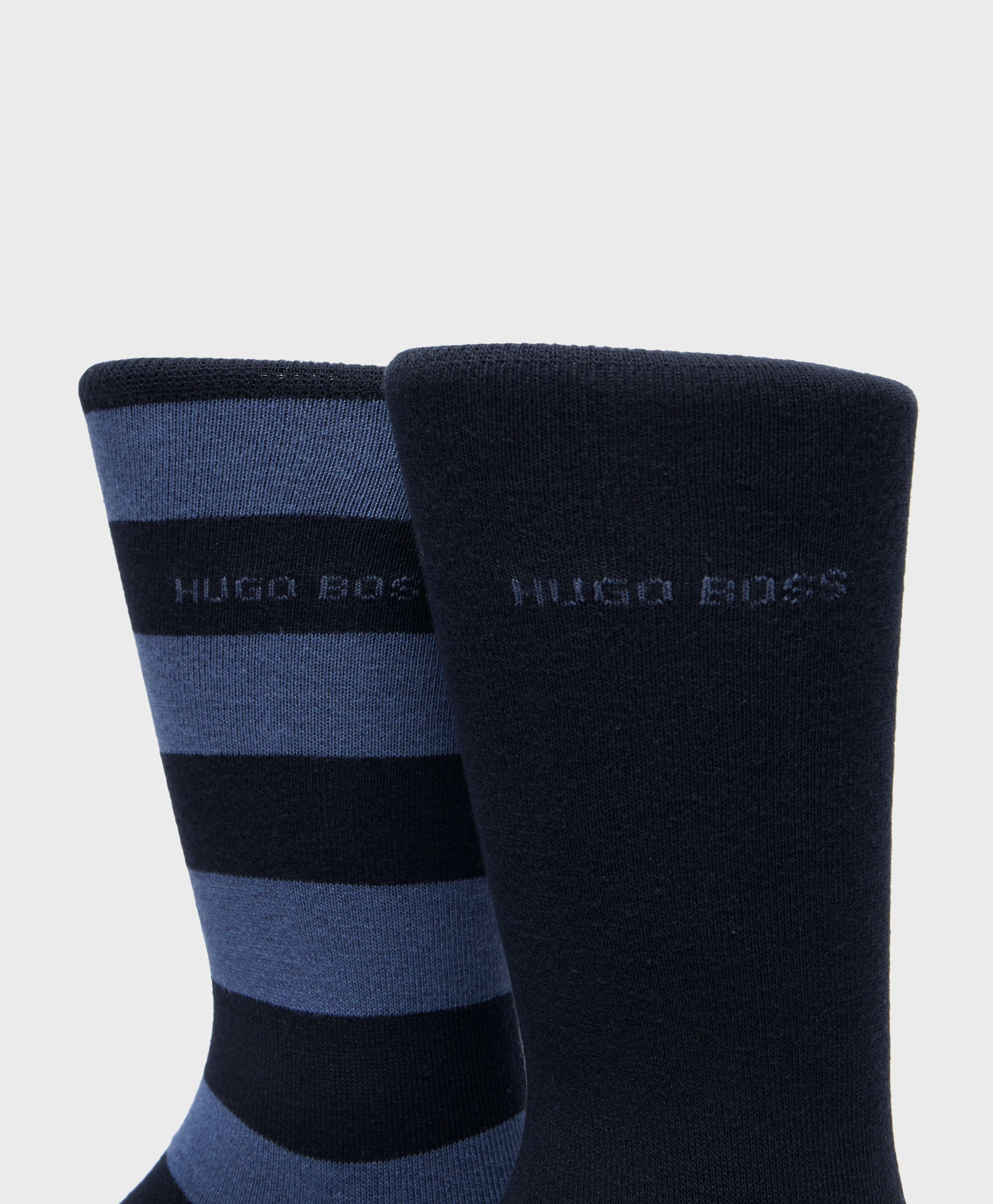 BOSS 2-Pack Stripe Socks