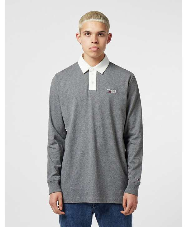 Tommy Jeans Rugby Long Sleeve Polo Shirt  a65eee9dd874