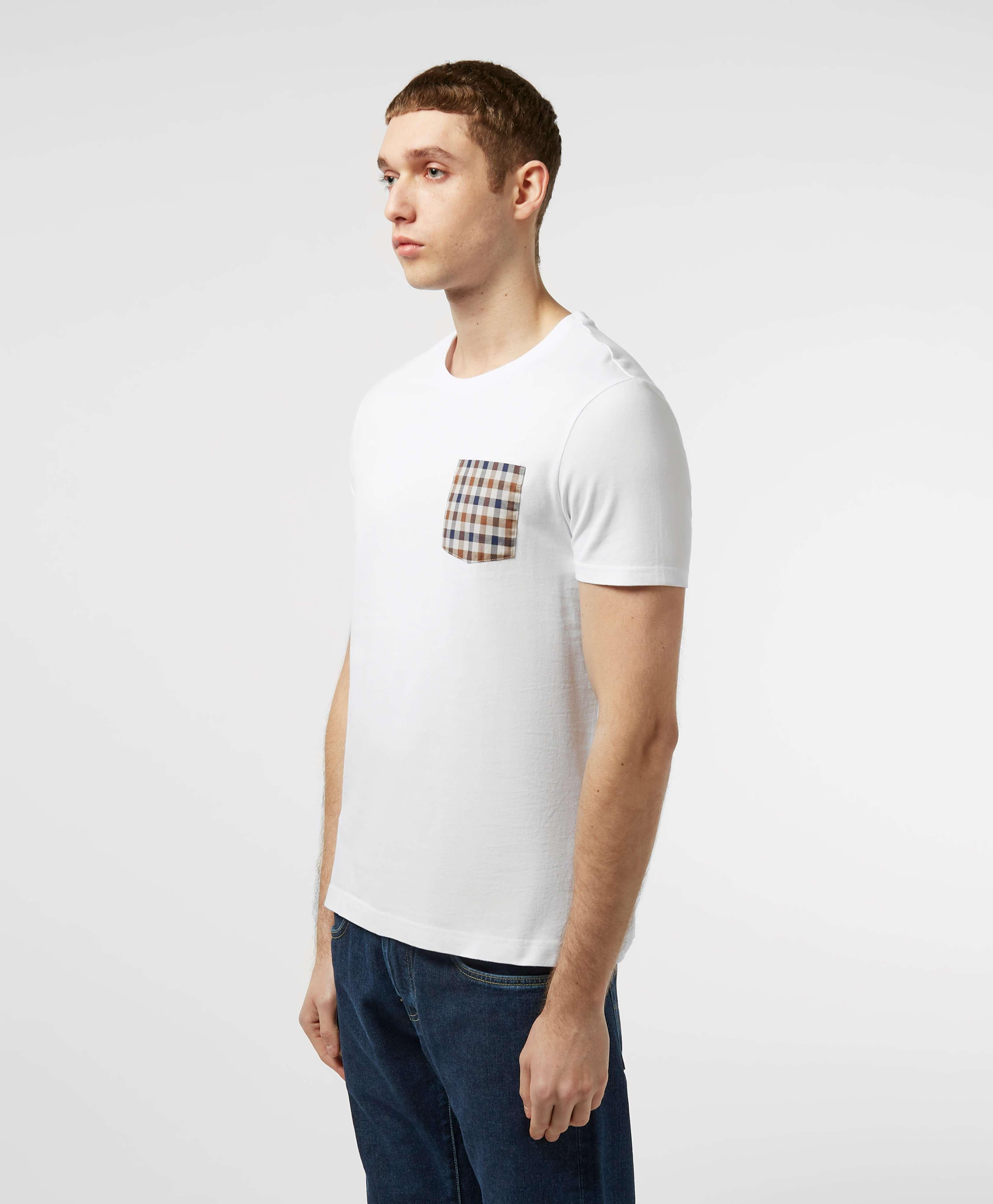 Aquascutum Club Check Pocket Short Sleeve T-Shirt - Exclusive