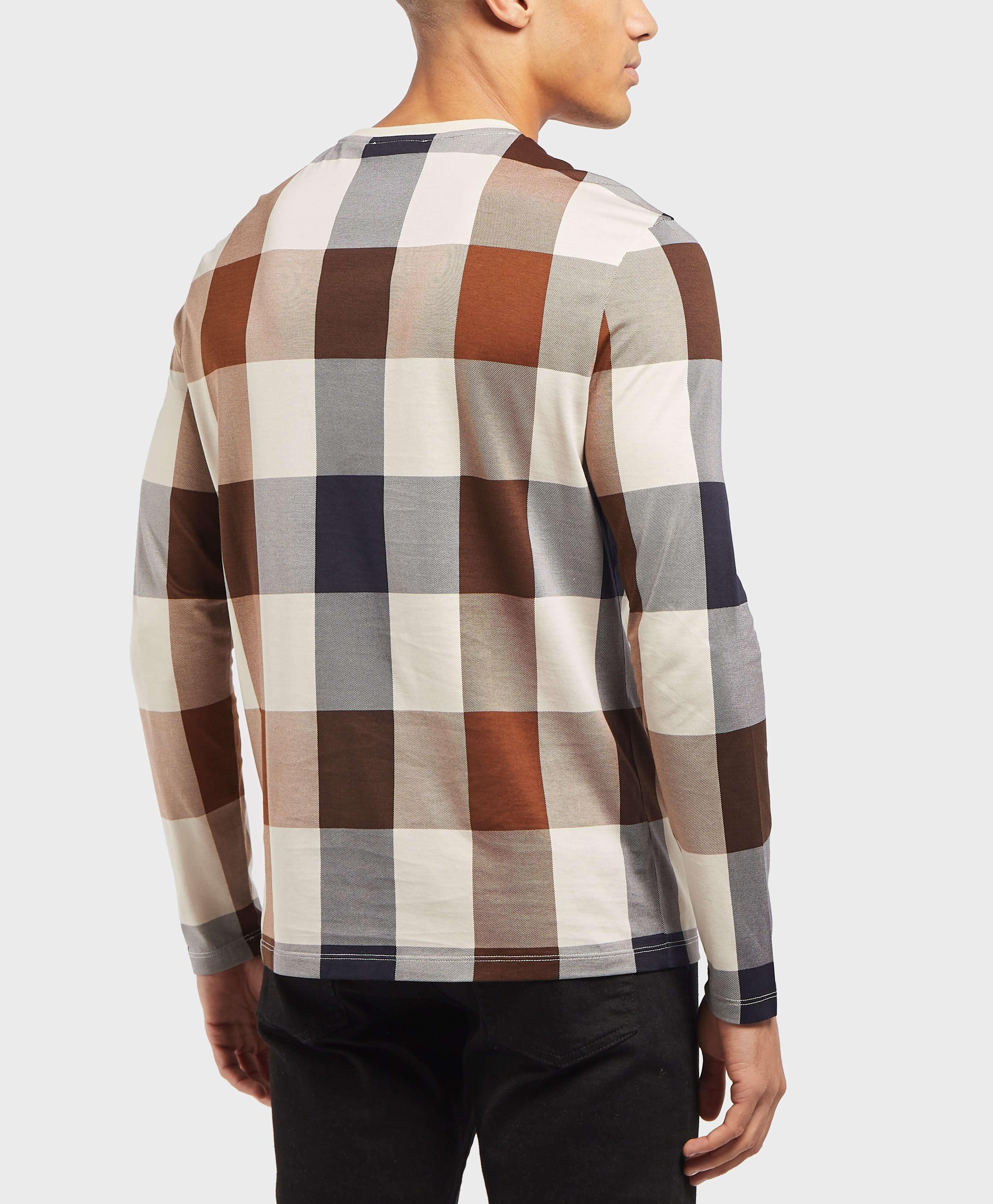 Aquascutum Oversized Check Long Sleeve T-Shirt