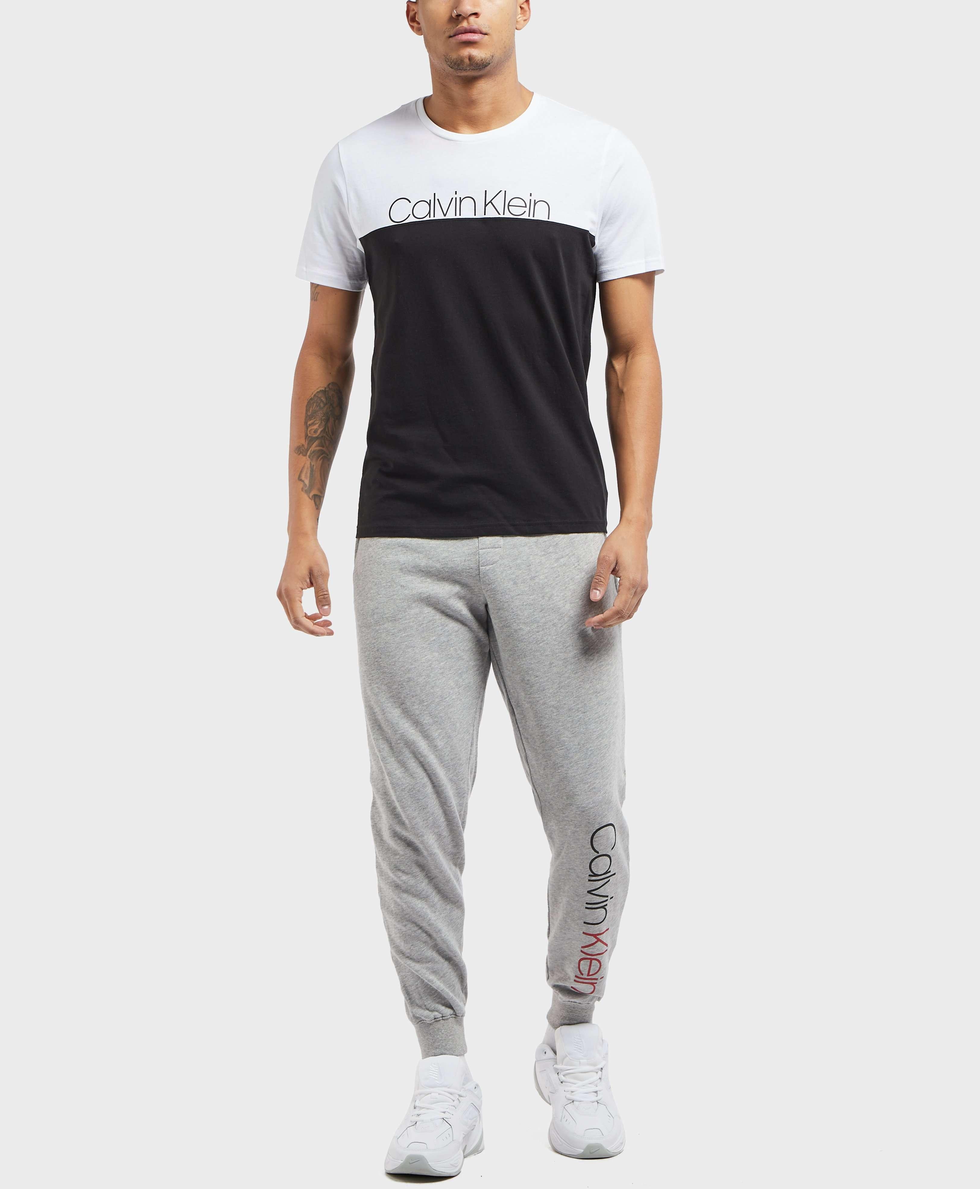 Calvin Klein Split Logo Cuffed Fleece Pants